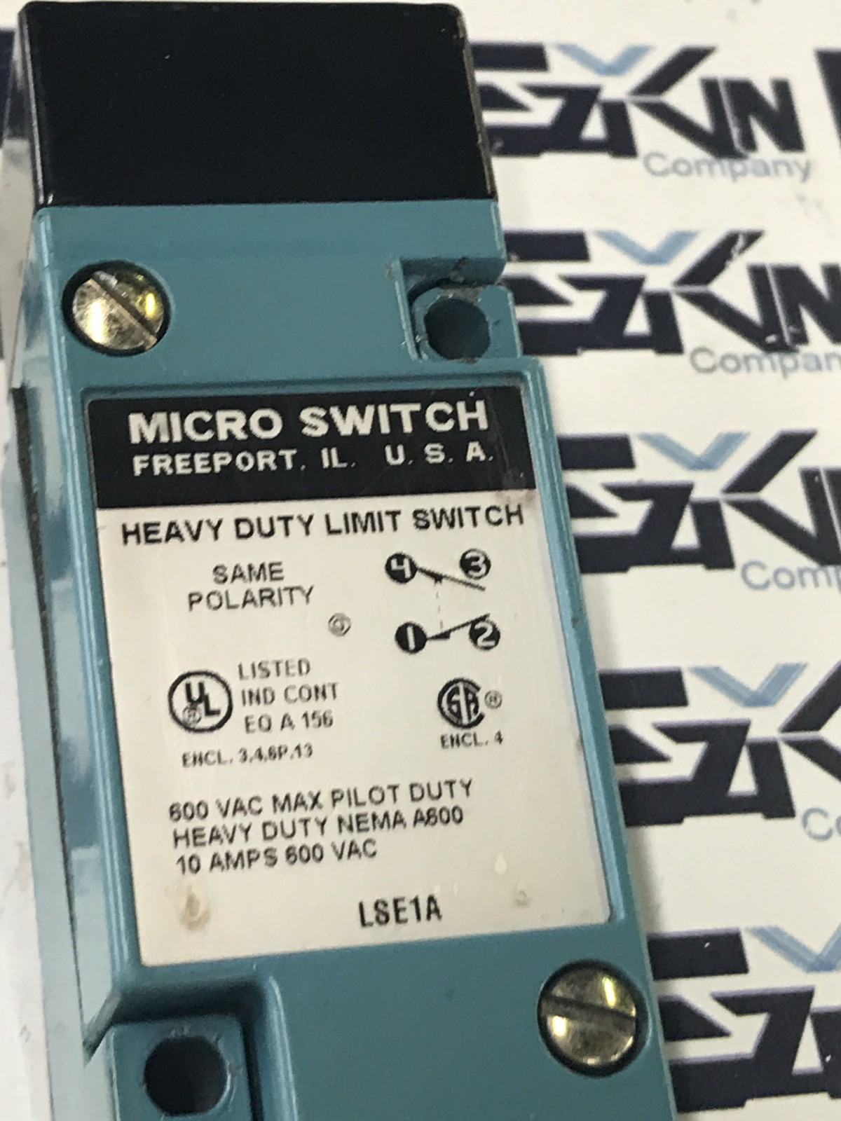 HONEYWELL LSE1A MICRO SWITCH HEAVY DUTY LIMIT SWITCH 600VAC 10A
