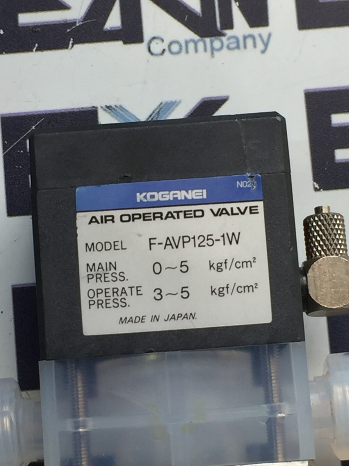 KOGANEI F-AVP125-1W AIR OPERATED VALVE