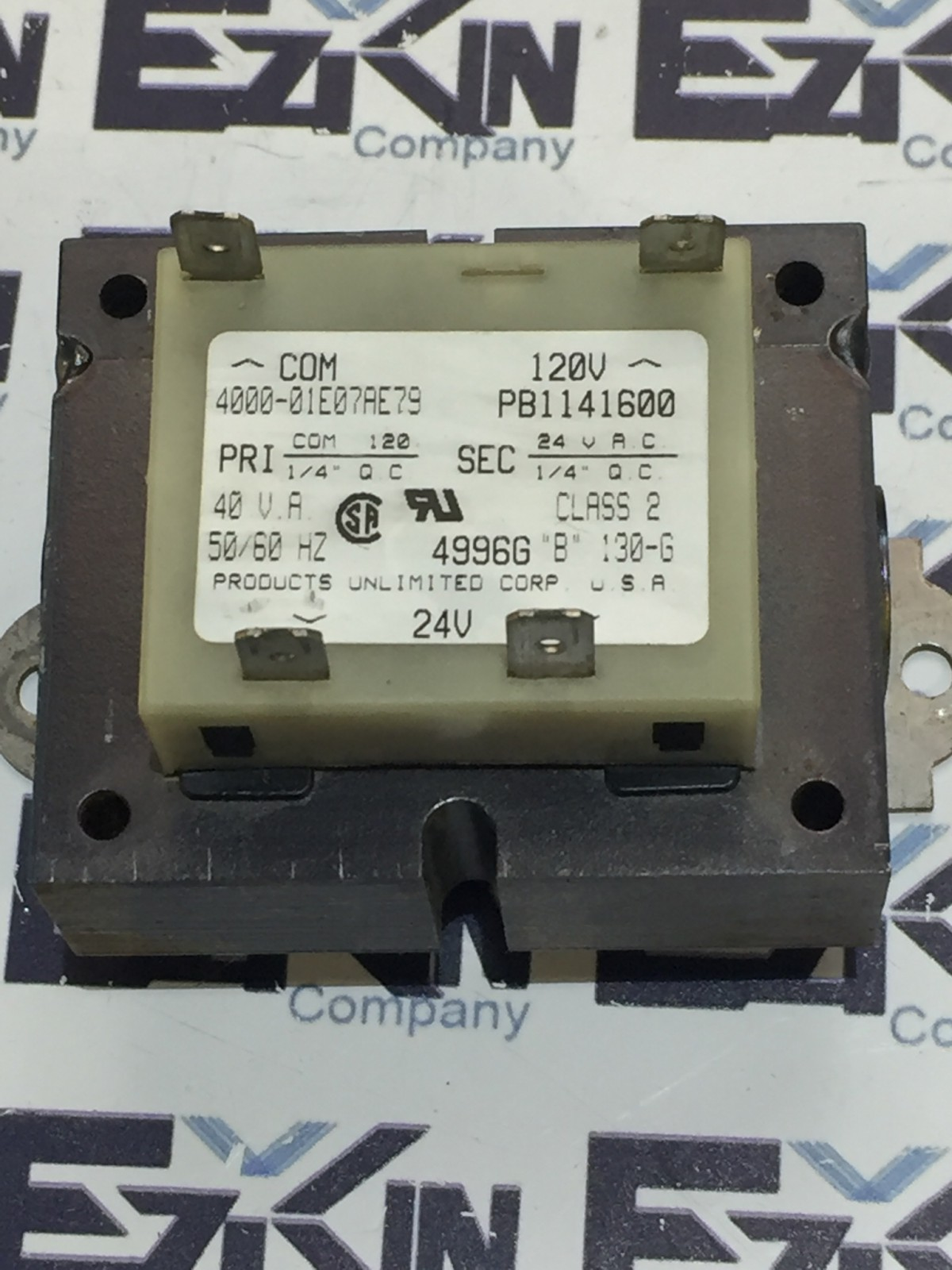 PRODUCTS UNLIMITED 4000-01E07AE79 TRANSFORMER B1141600