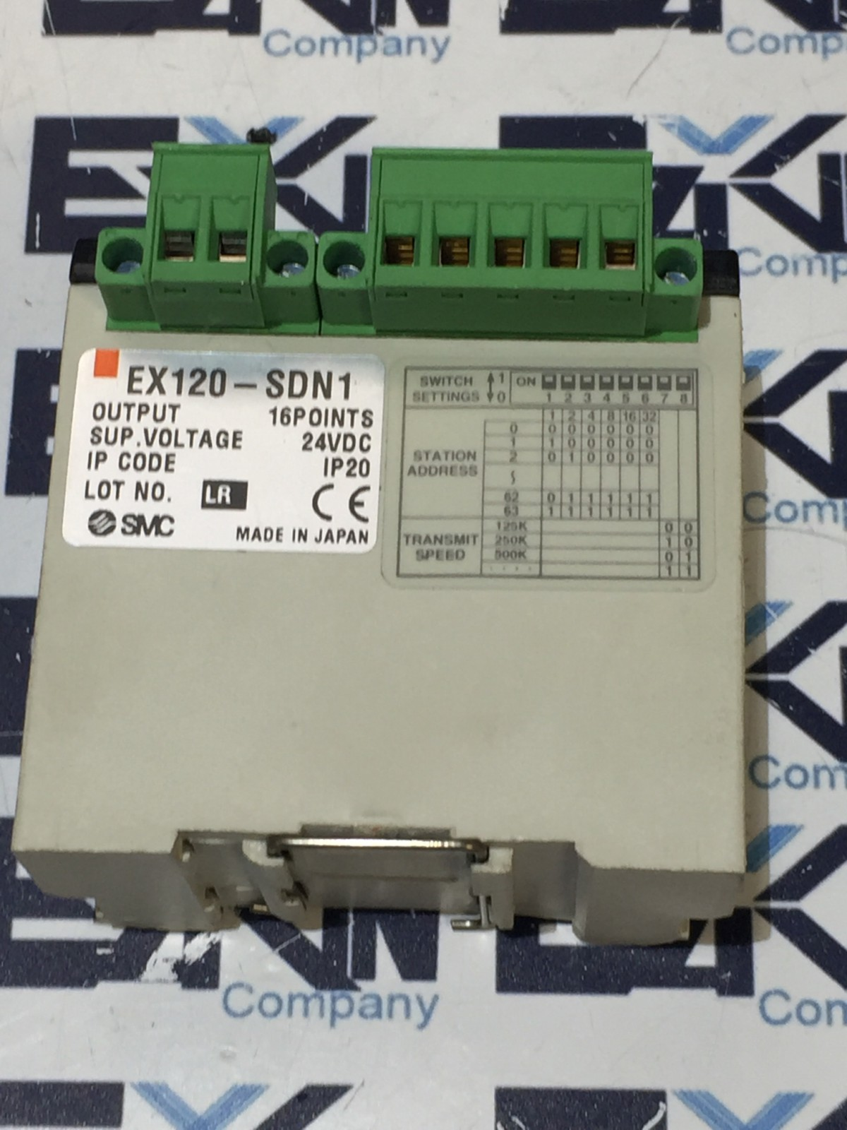 SMC EX120-SDN1 DEVICENET OUTPUT 16POINT 24VDC