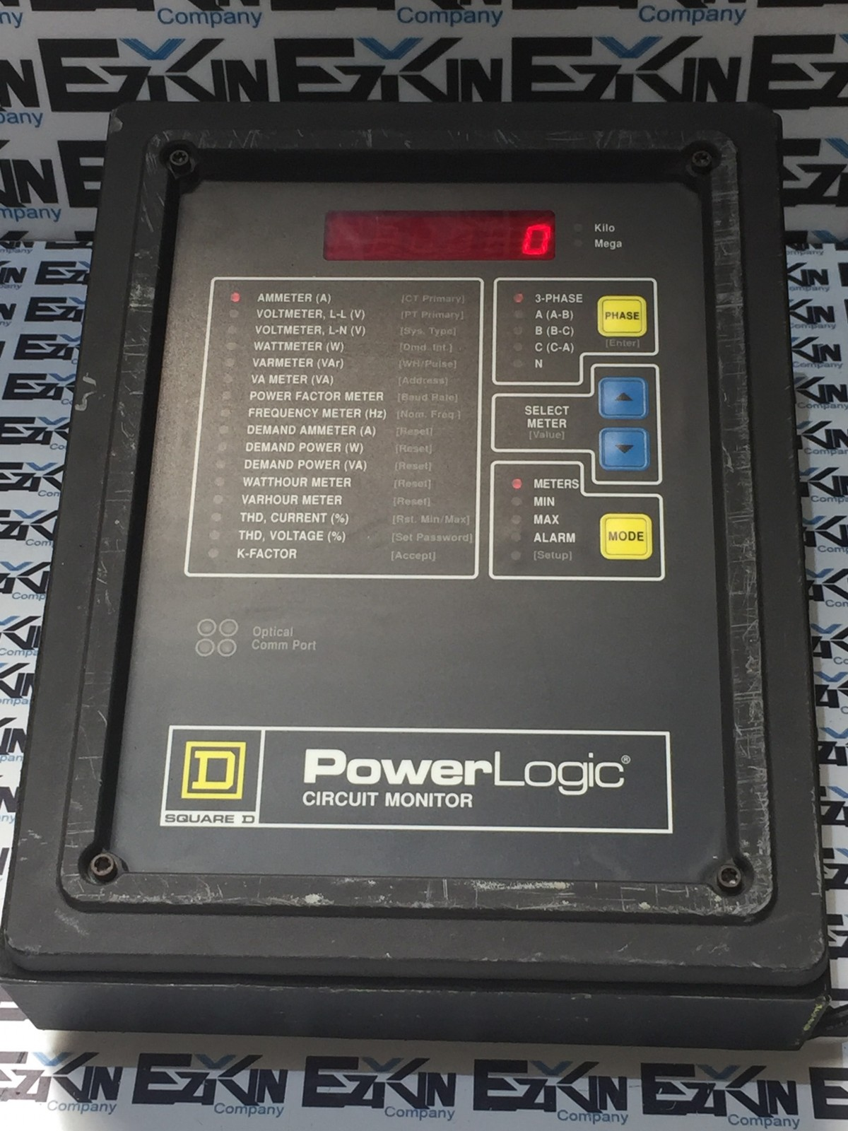 SQUARE D POWERLOGIC CIRCUIT MONITOR 3020/CM-2350 , 3020/IOM-44 TESTED