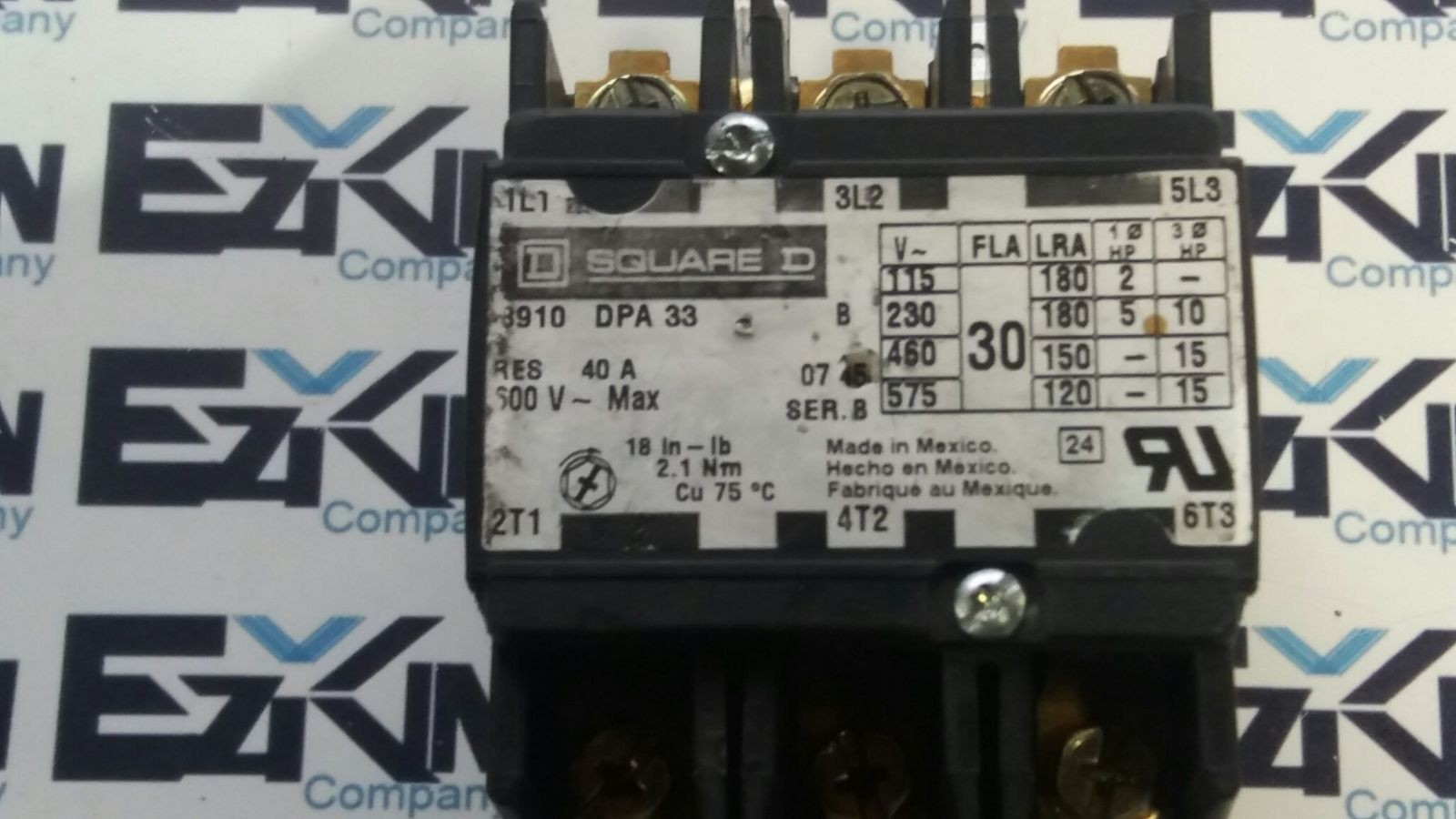 SQUARE D 8910 DPA 43 DEFINITE PURPOSE CONTACTOR