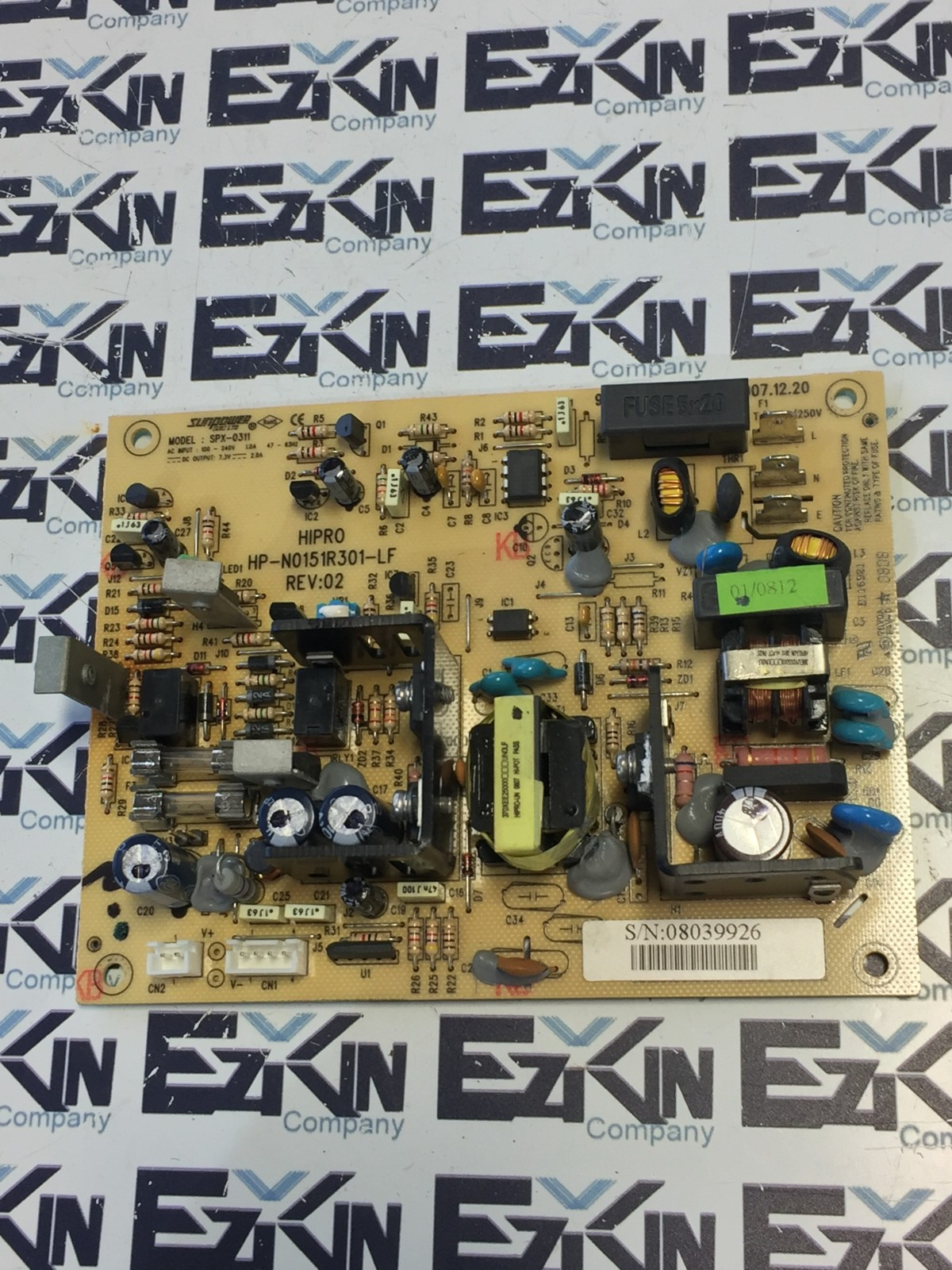 ROHS SUNPOWER MODEL:SPX-0311 CONTROL BOARD HP-N0151R301-LF REV:02
