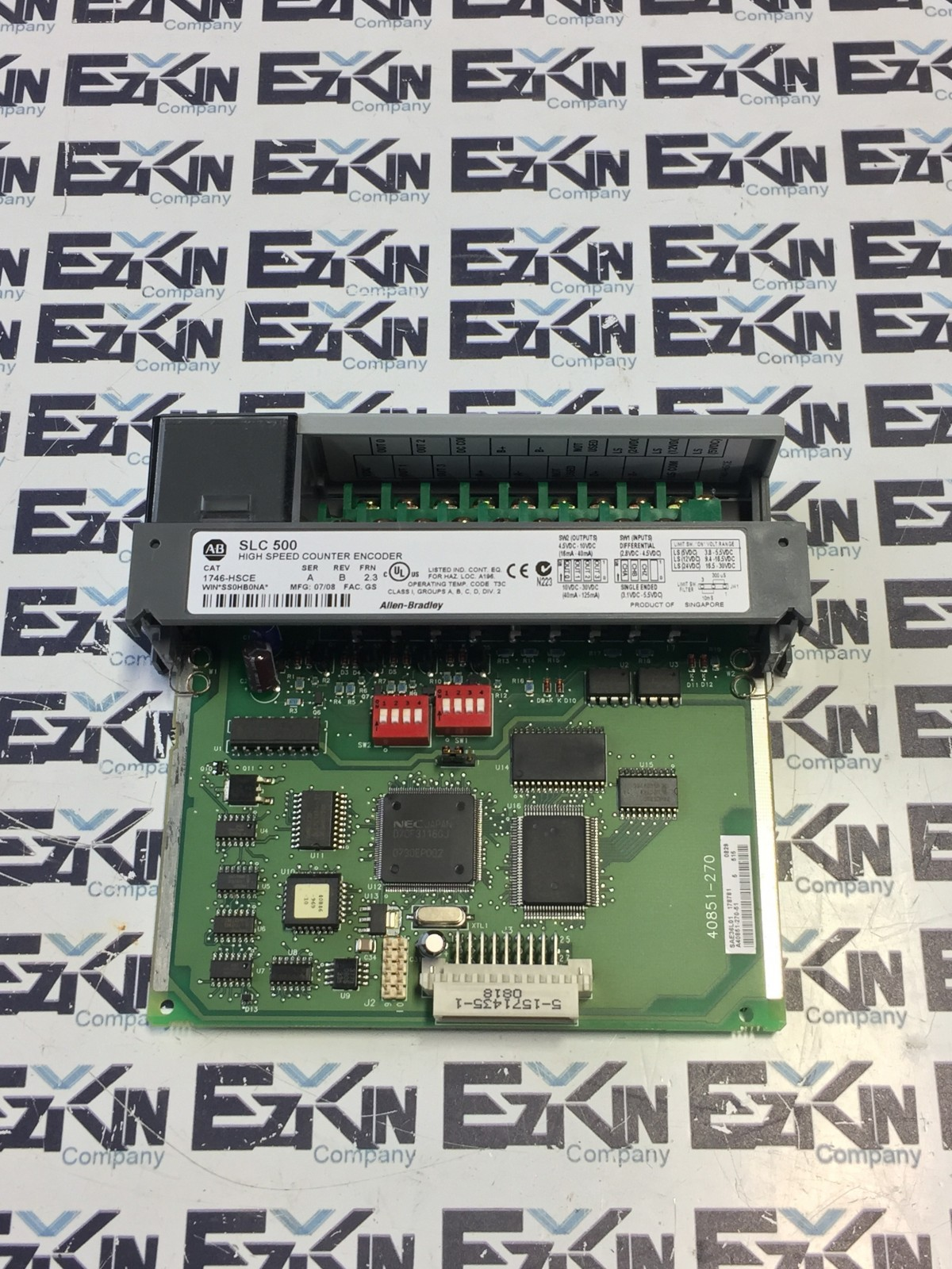 ALLEN BRADLEY SLC500 1746-HSCE SER.A REV.B FRN 2.3 HIGH SPEED COUNTER ENCODER