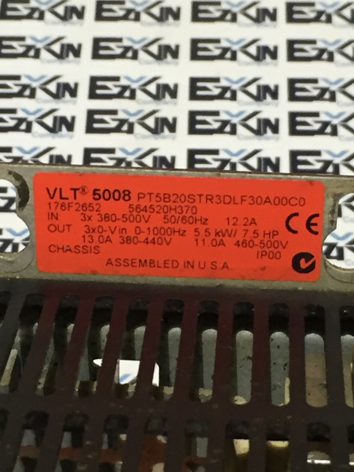 Danfoss VLT 5002 PT5B20STR3DLF30A00C0 5HP drive without display