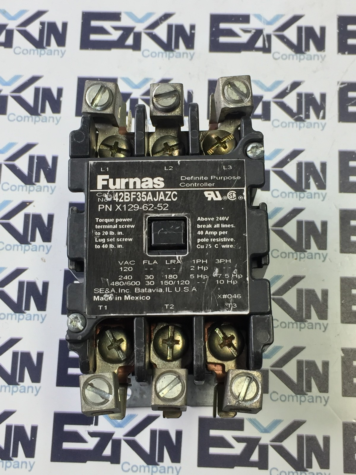 FURNAS ELECTRIC CO.42BF35AJAZC CONTACTOR 24V COIL
