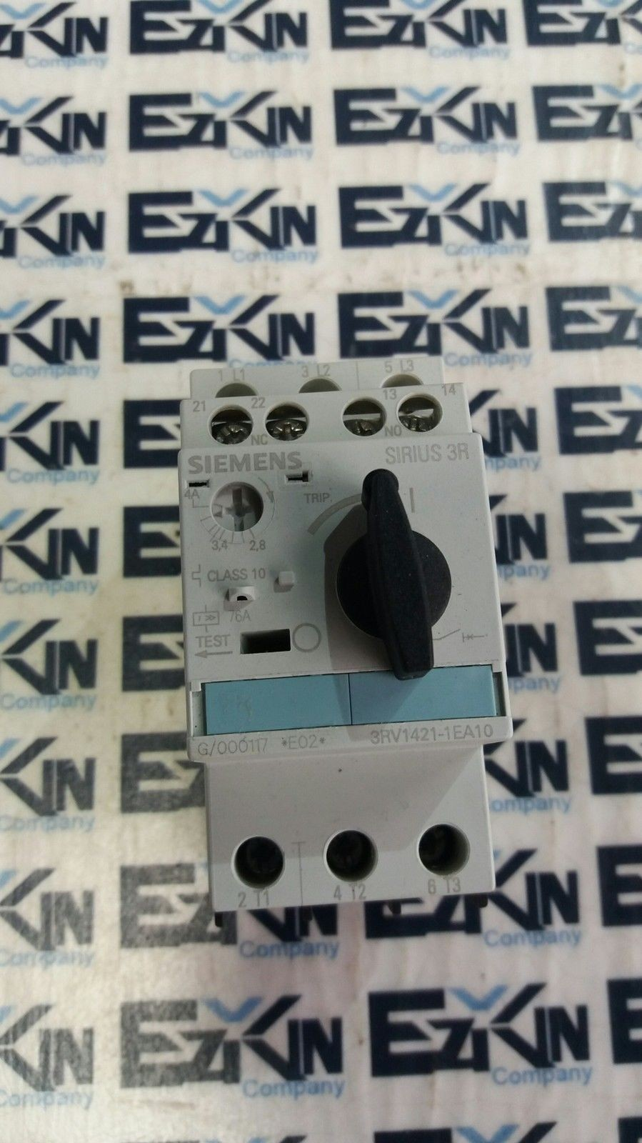 SIEMENS SIRIUS 3RV1421-1EA10 MANUAL COMBINATION STARTER 2.8-4A