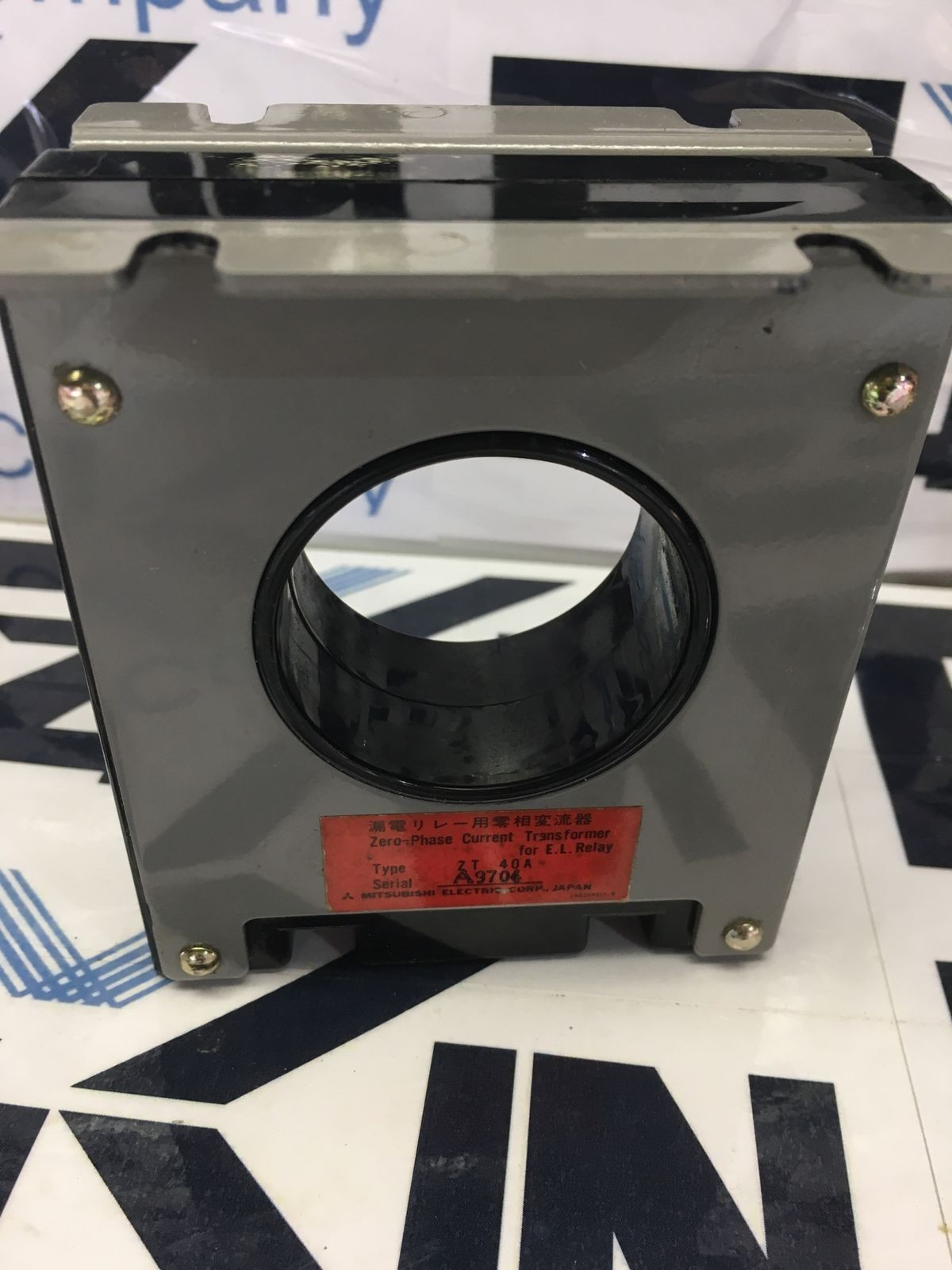MITSUBISHI ELECTRIC ZERO-PHASE CURRENT TRANSFORMER  TYPE ZT 40A USED