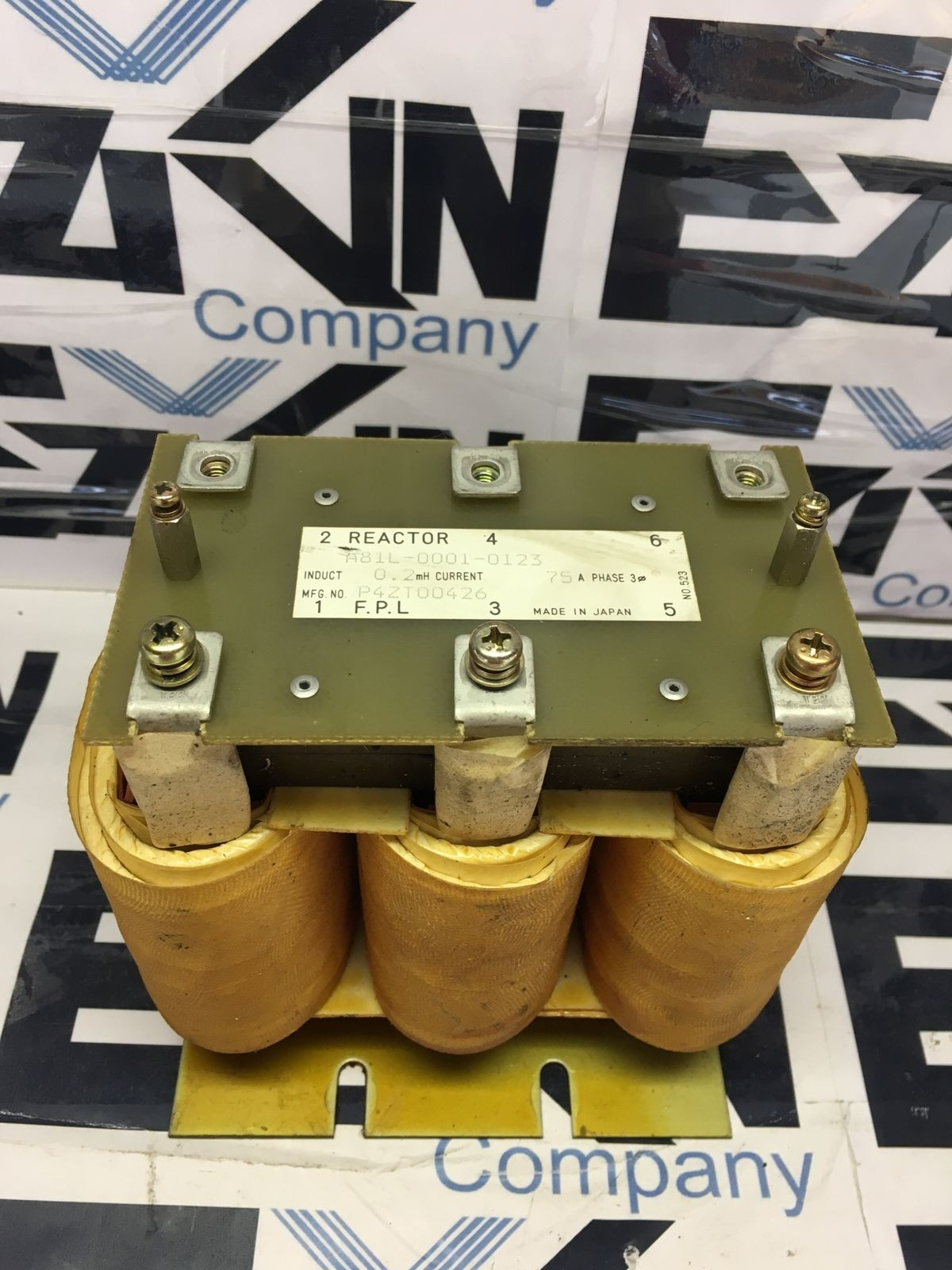 USED FANUC Reactor A81L-0001-0123 0.2mH 75A 3 Phase A81L00010123