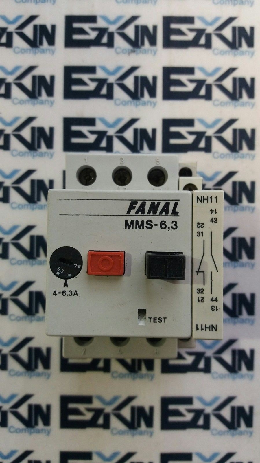 FANAL MMS-6,3 Contactor W/EATON NH11-PKZO Switch Contact Block
