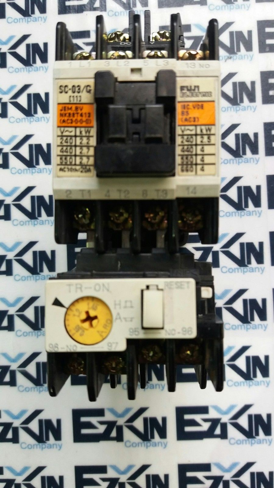 FUJI SC-03/G(11) CONTACTOR W/TR-ON 5-8A OVERLOAD RELAY