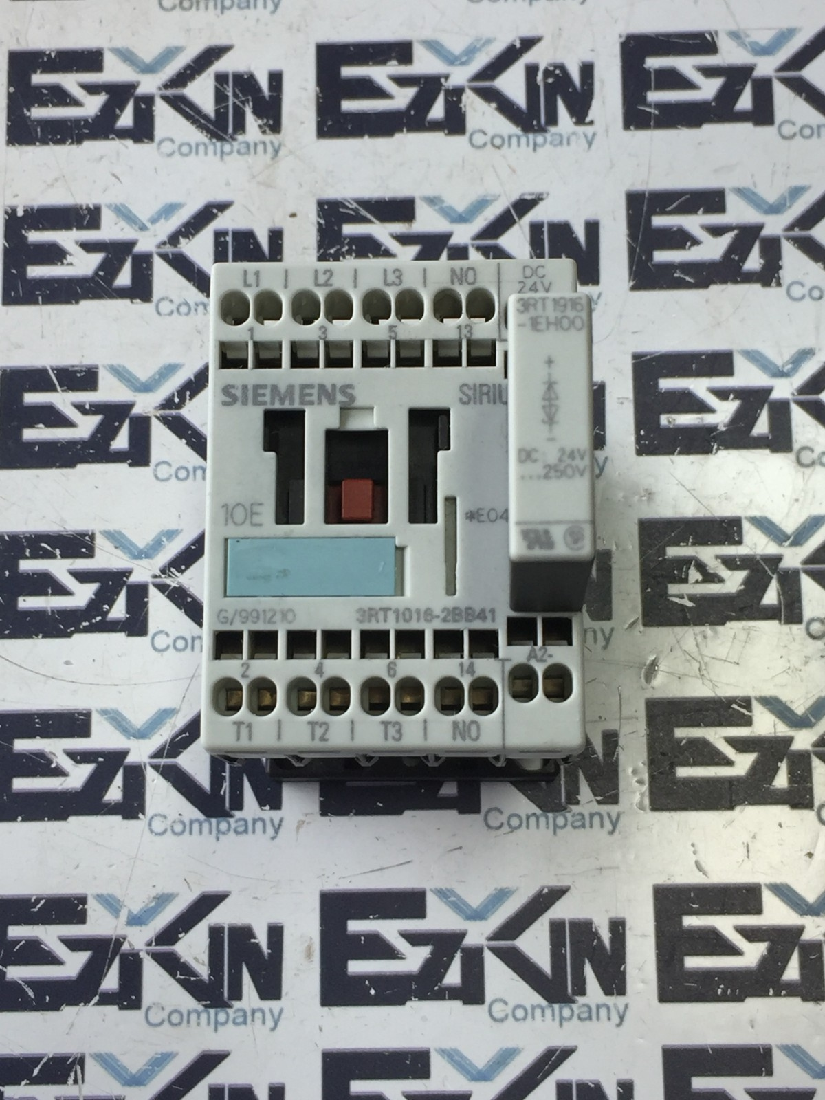 SIEMENS 3RT1016-2BB41 CONTROL RELAY W/ 3RT1916-1EH00 RELAY
