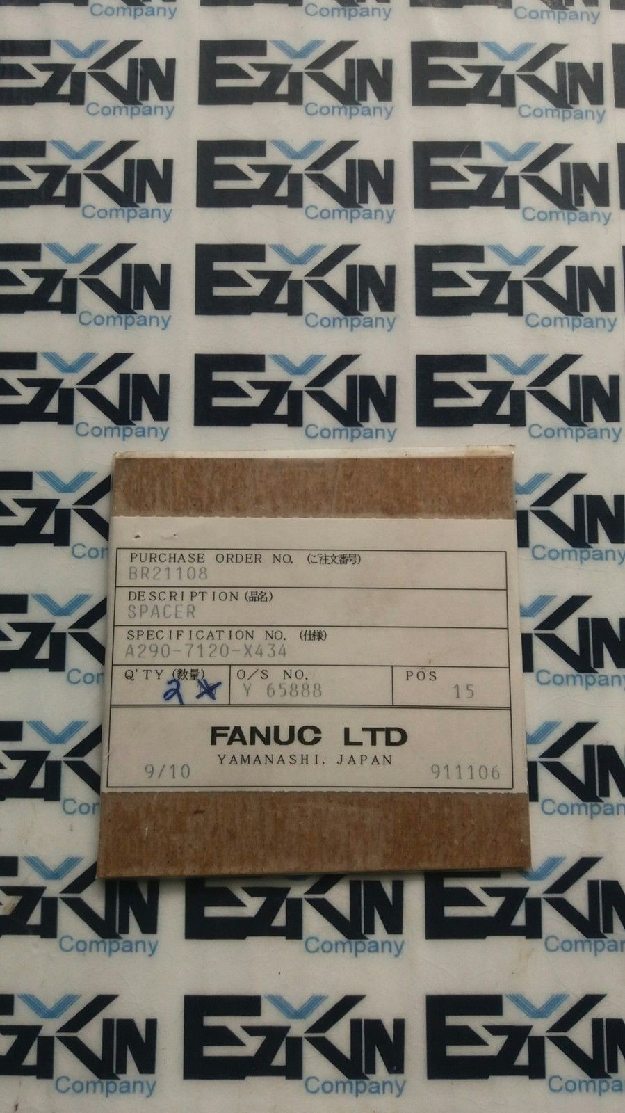 FANUC A290- 7120- x434 SPACER LOT# 2