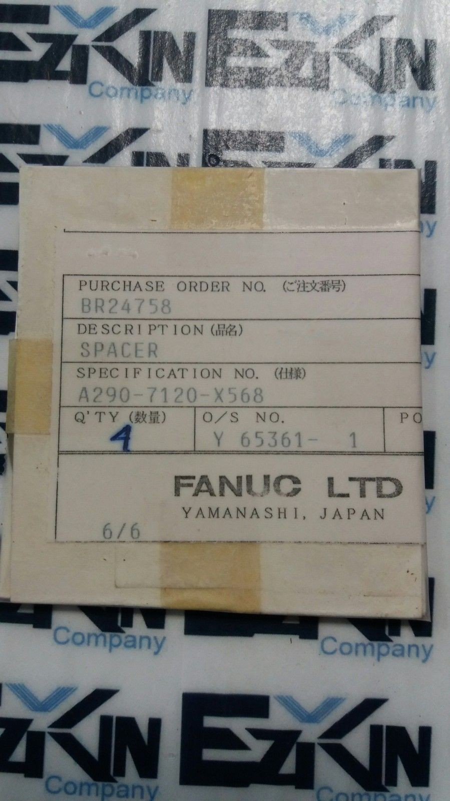 FANUC A290-7120-x568 SPACER LOT#4