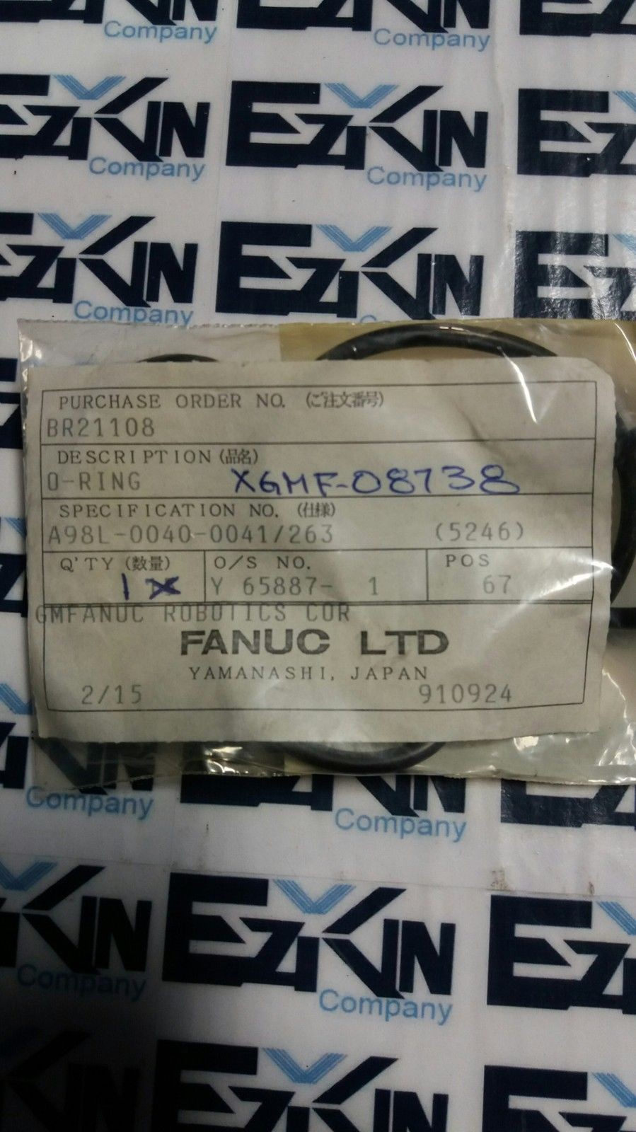 FANUC A98L-0040-0041/263 O-RING XGMF-08738 NEW