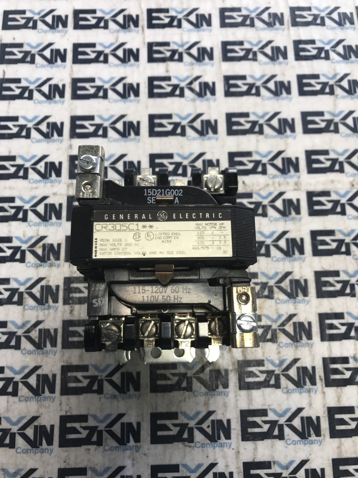 GENERAL ELECTRIC CR305C1** CONTACTOR NEMA SIZE 1 600AC