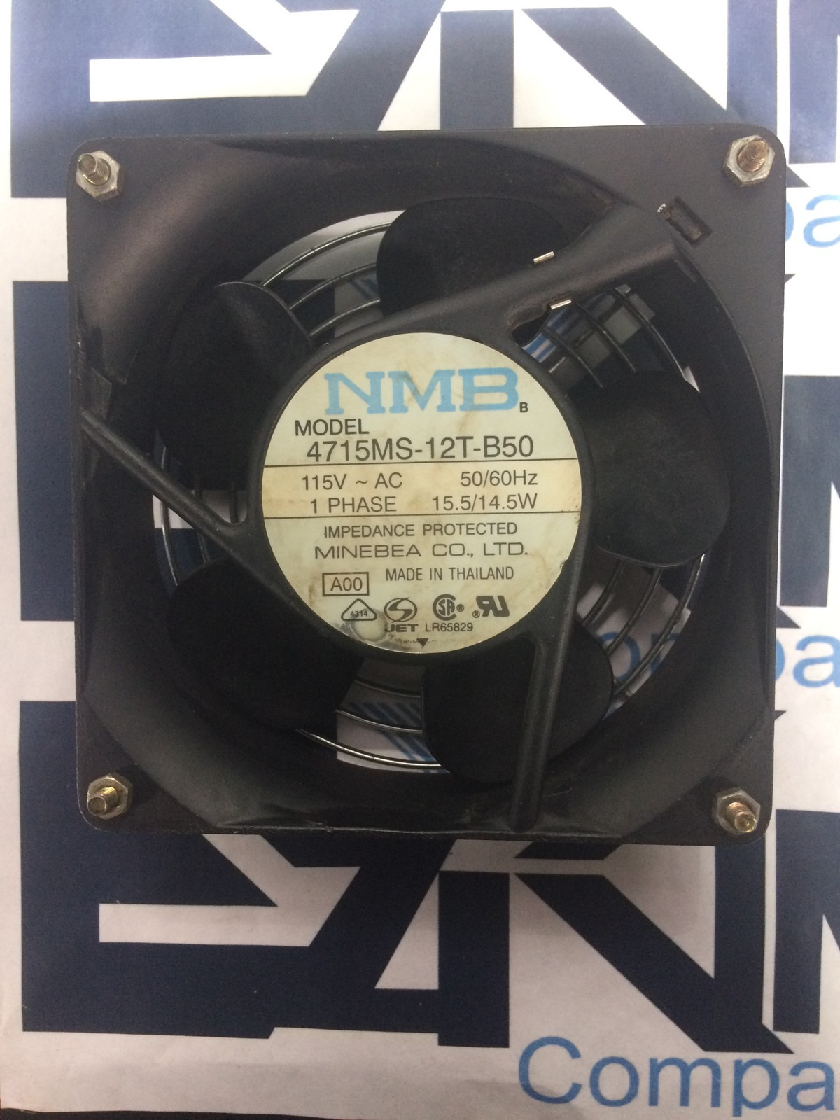 NMB 4715MS-12T-B50 115V 50/60HZ 1 PHASE 15.5/14.5W FAN