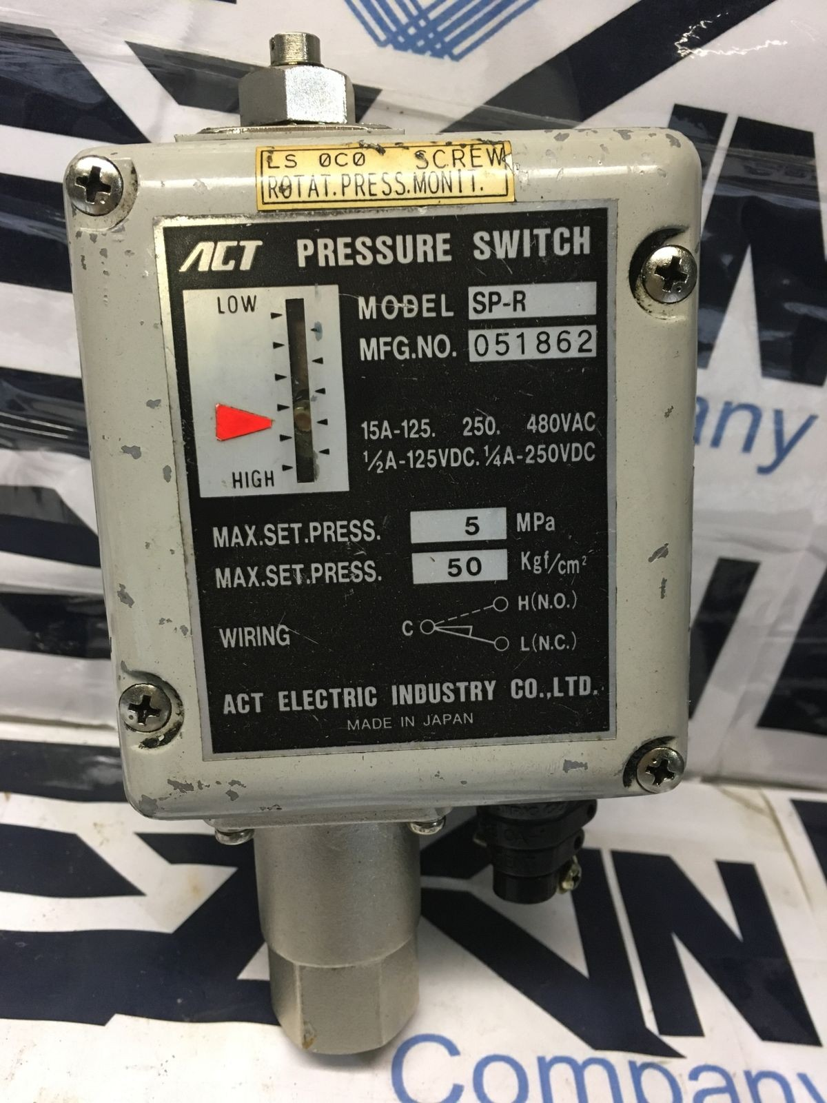 ACT ELECTRIC SP-R Pressure Switch