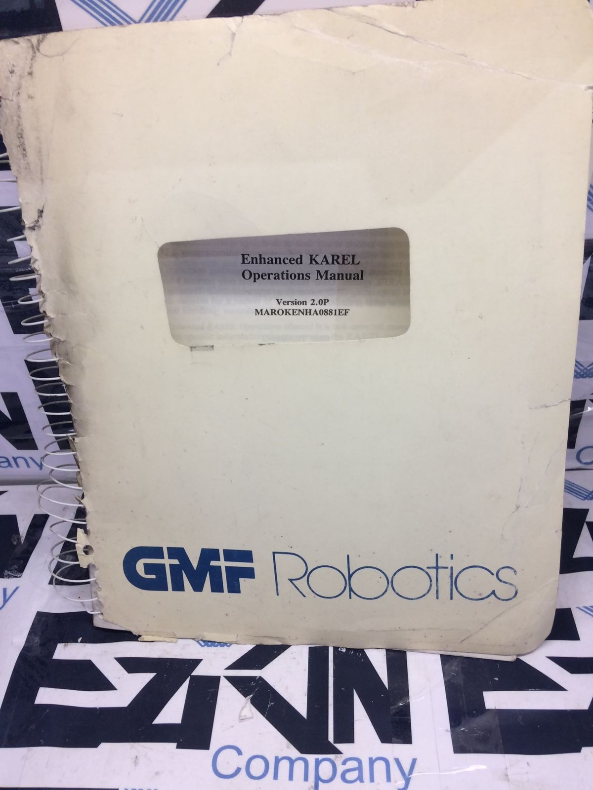 GMF Robotics Version 2.0P MAROKENHA0881EF KAREL Operations Manual