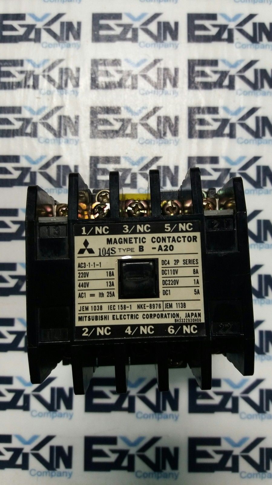 MITSUBISHI MAGNETIC CONTACTOR TYPE B-A20 120V COIL