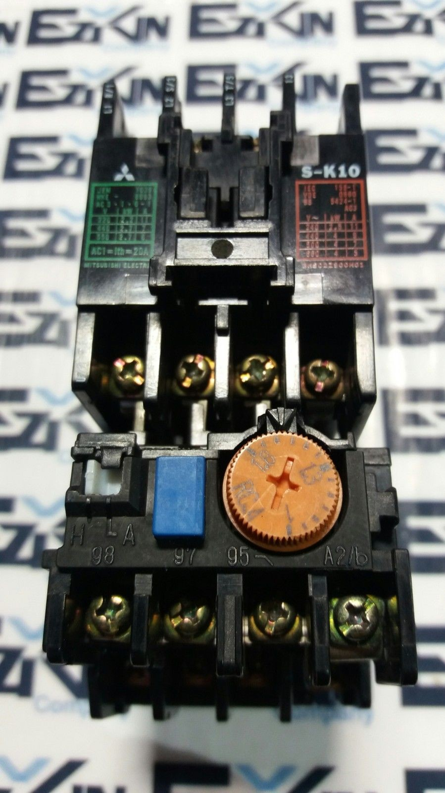MITSUBISHI S-K10 SERIAL 108A CONTACTOR TH-K12KP SERIAL 106S