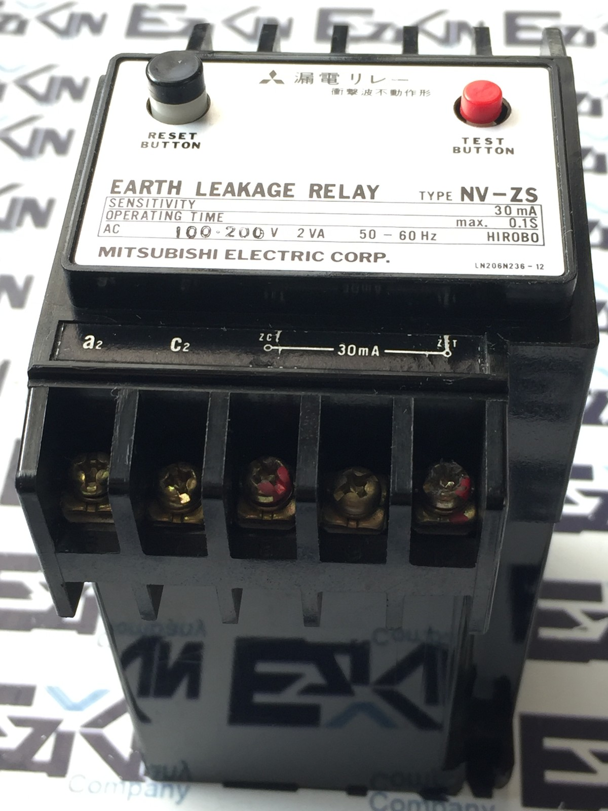 MITSUBISHI NV-ZS EARTH LEAKAGE RELAY