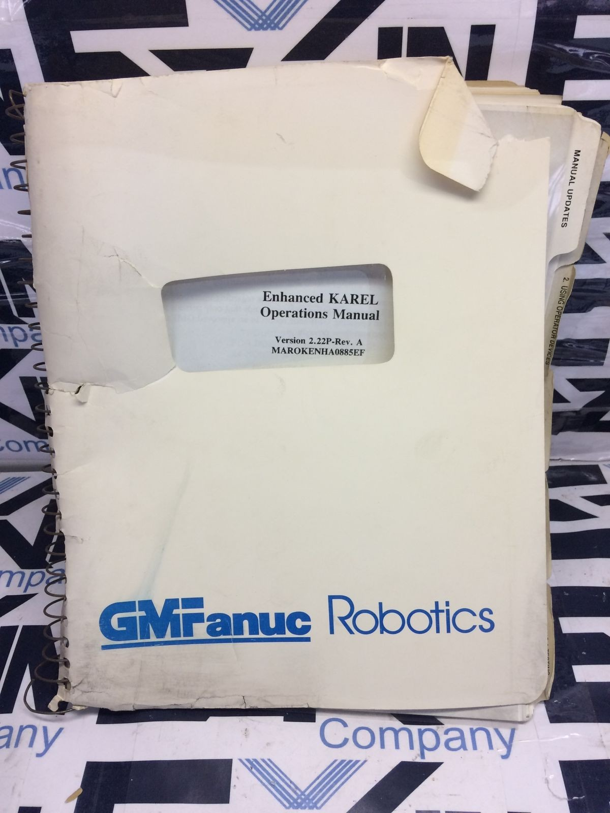 FANUC KAREL Operations Manual GMF Robotics V 2.22P-REV. A
