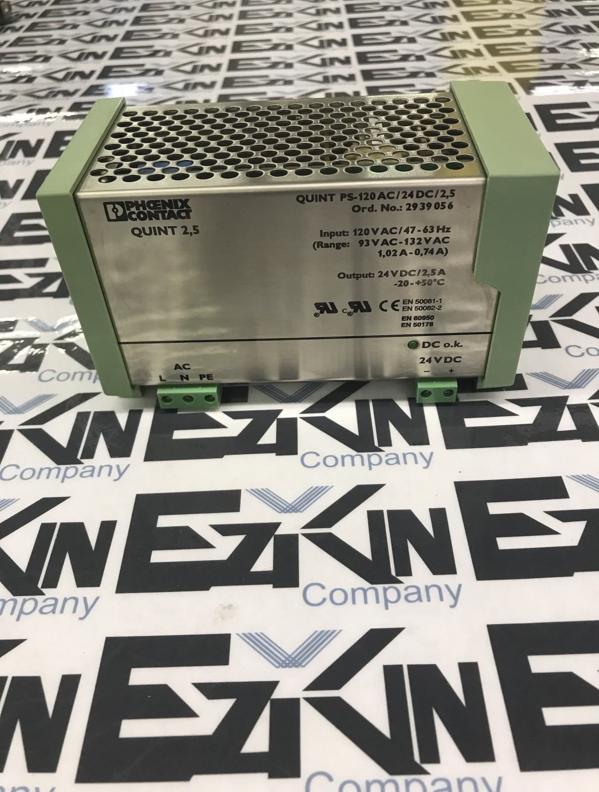 PHOENIX CONTACT QUINT PS-120 AC/24DC 2,5 POWER SUPPLY INPUT 120VAC OUTPUT 24VDC