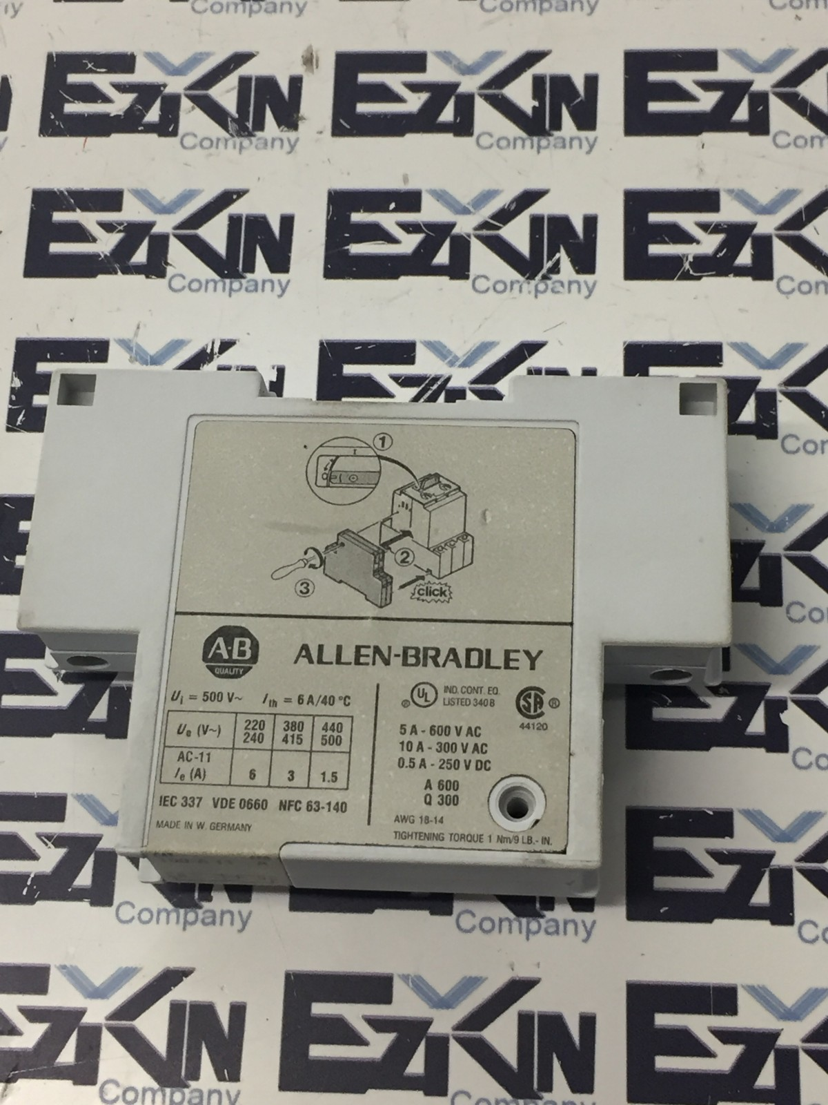 ALLEN-BRADLEY AUXILIARY CONTACT 190-A-11 /SERIES A