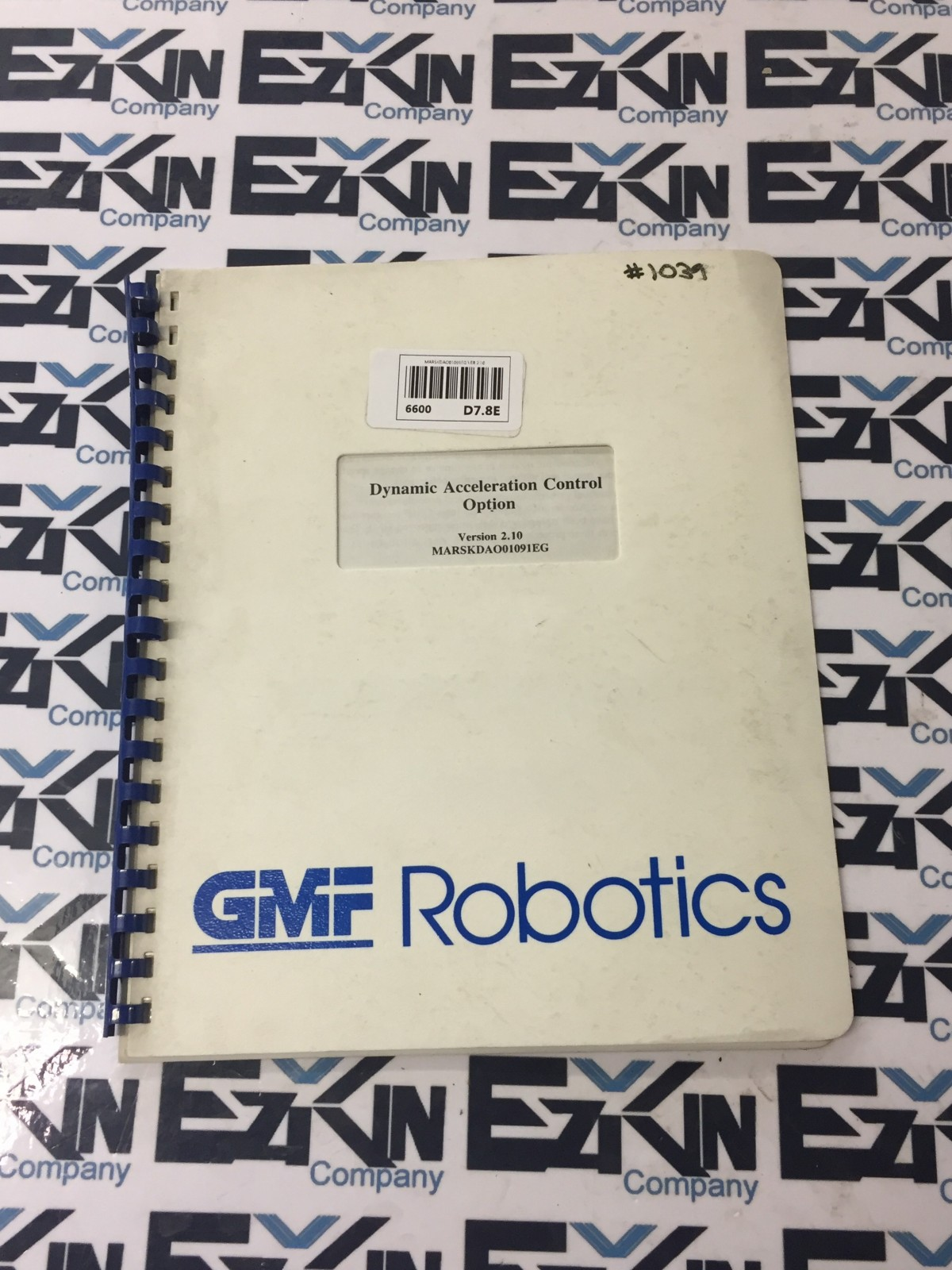 GMF FANUC DYNAMIC ACCELERATION CONTROL OPTION MANUAL BOOOK  VER.2.10