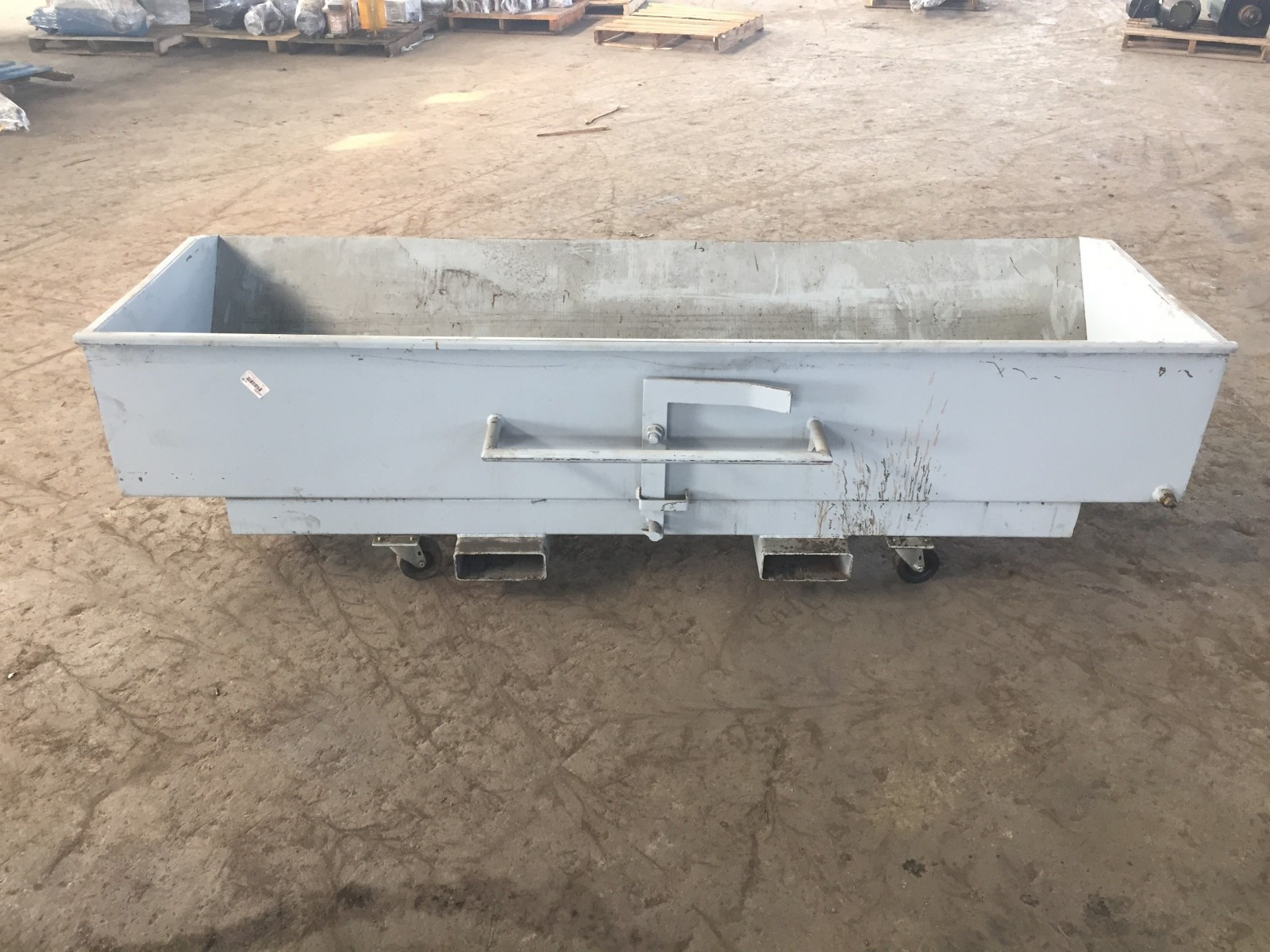 Vestil Self-Dumping Steel Hopper - Low Profile 91LX39WX25H