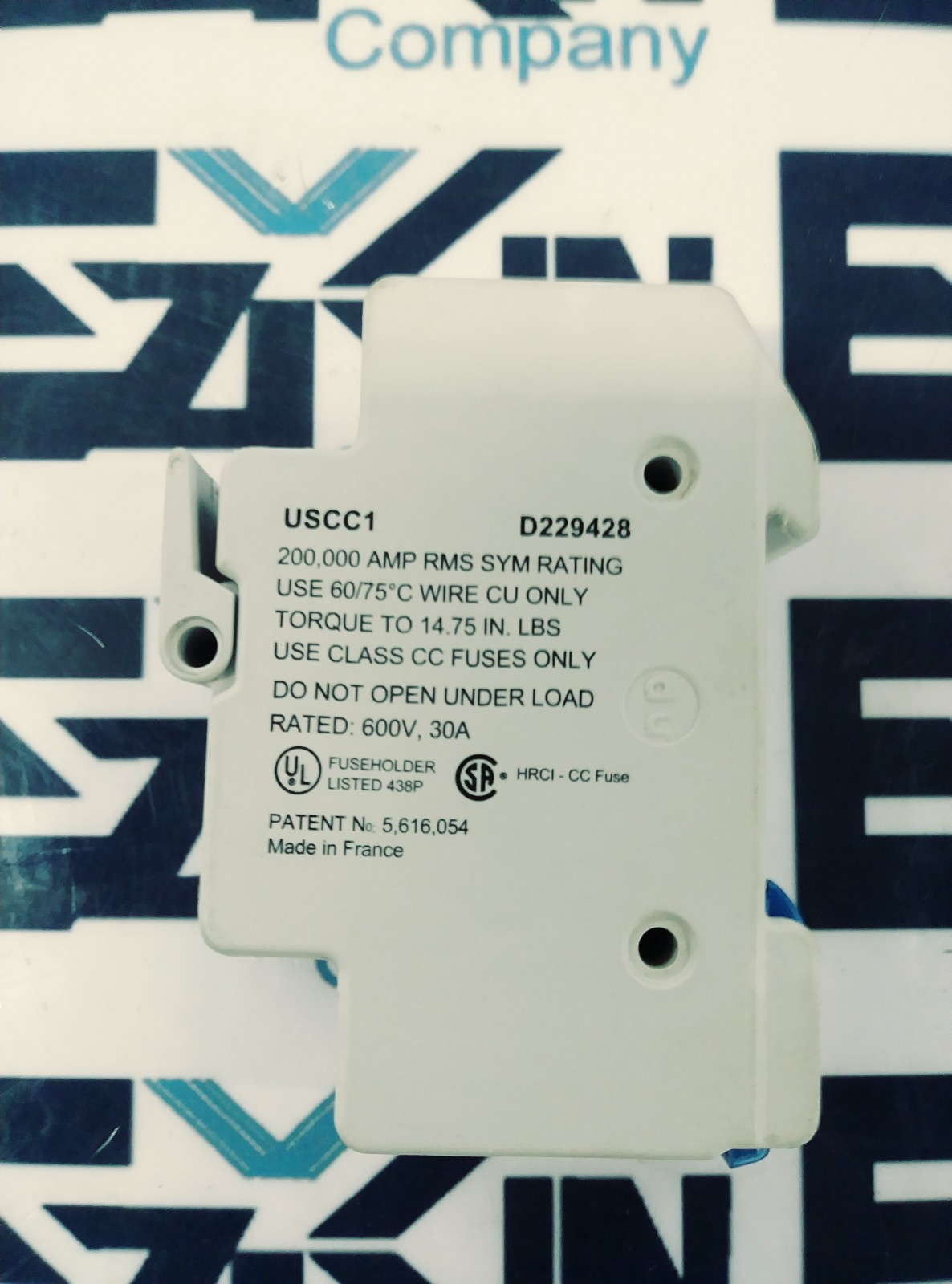Ferraz Shawmut USCC1 Class CC Fuseholder, 1-Pole, UltraSafe Fuse Holder