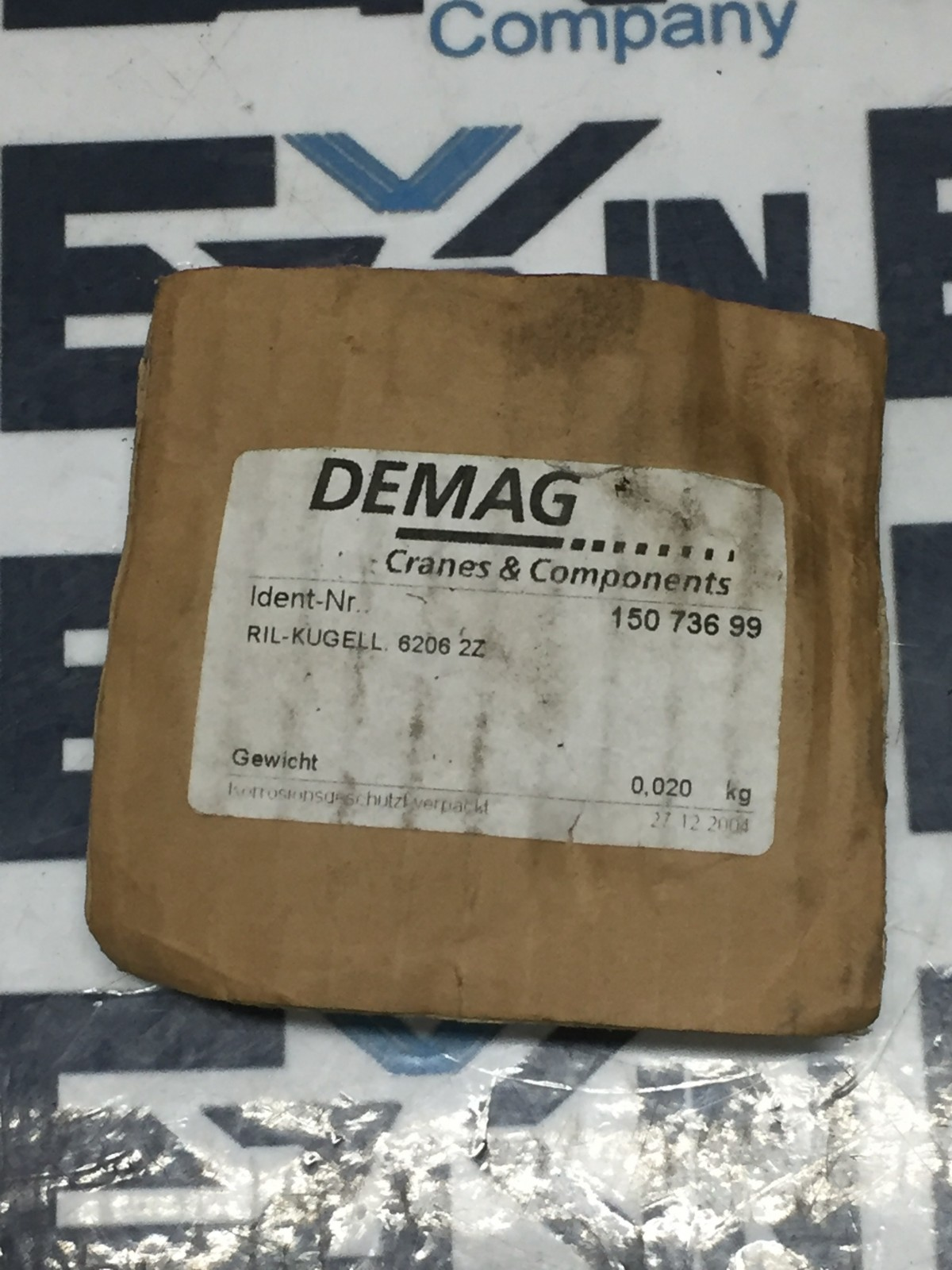 Demag RIL-KUGELL 6206 2Z Bearing Cranes Components