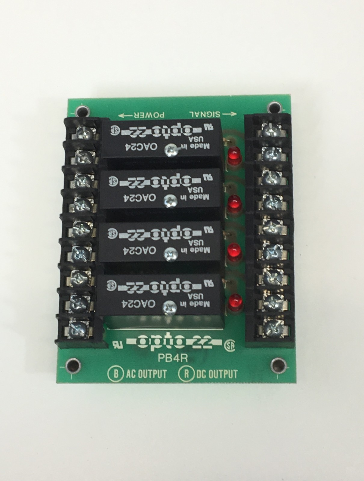Opto 22 Channel Output Module PB4R w/ OAC24 Relay