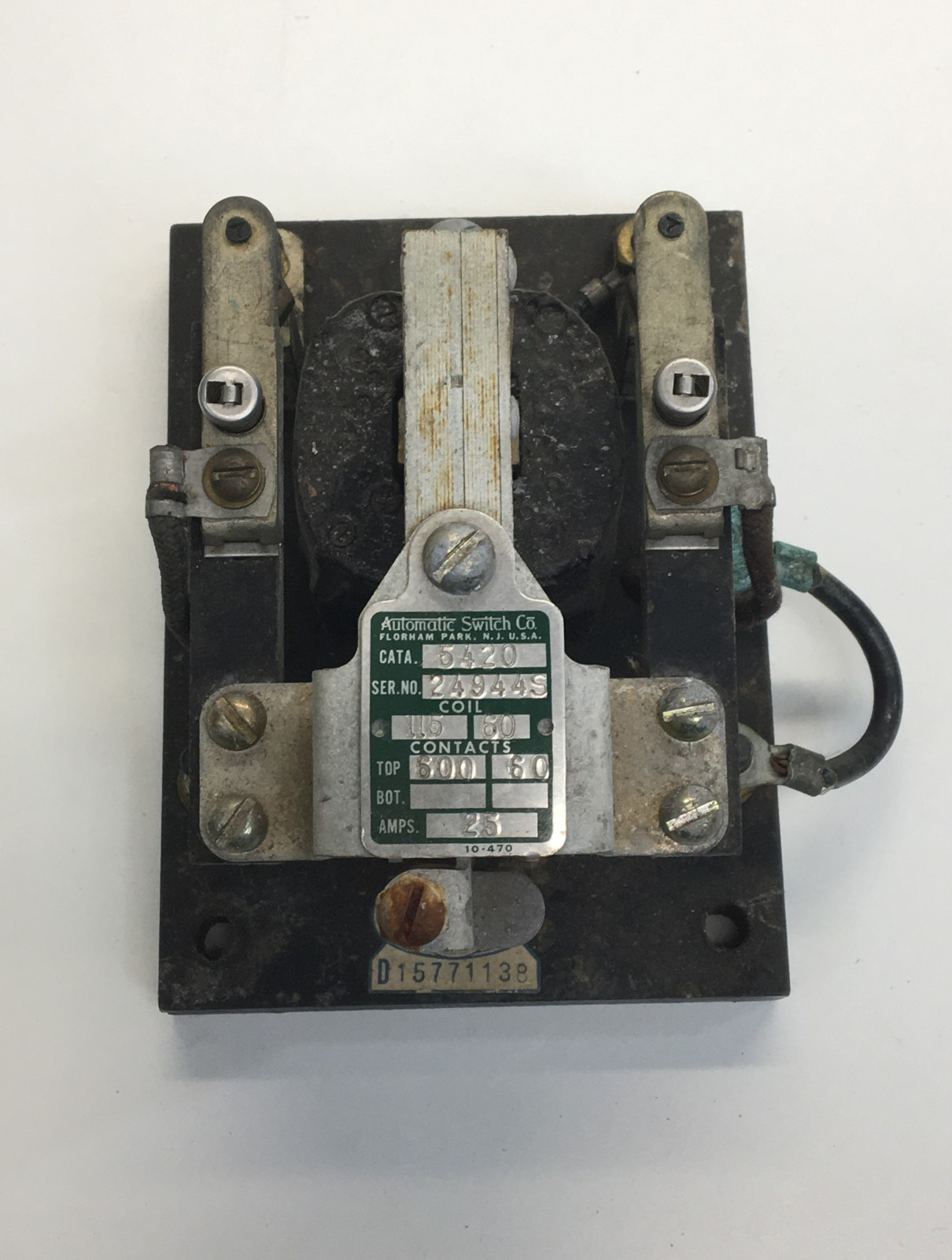 Automatic Switch Co 5420 115V COIL 25 Amps