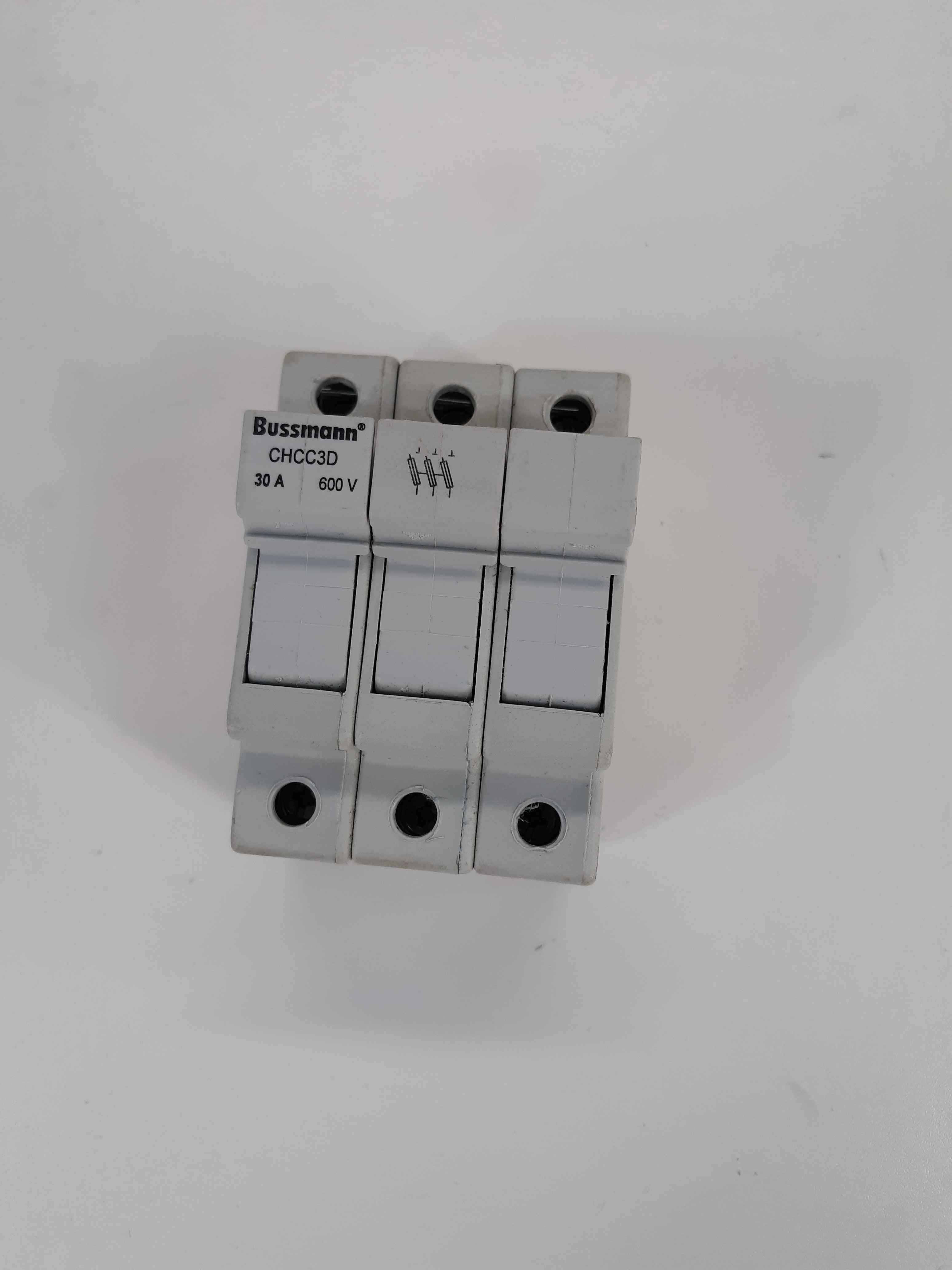 Busman CHCC3D 3 Pole Fuse Holder 30A 600V