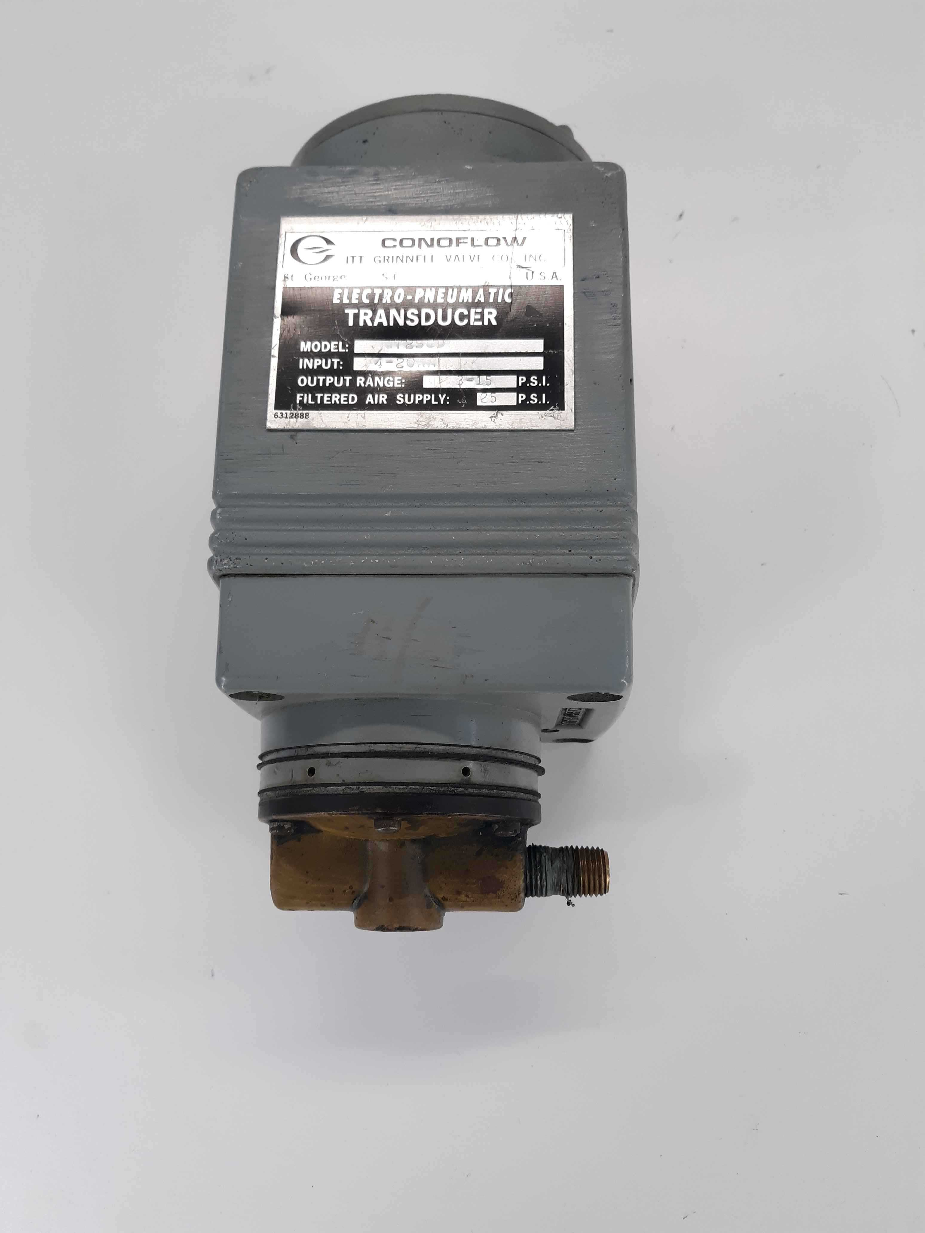 ITT GT25CD CONOFLOW 3-15PSI 1/4IN NPT ELECTRO PNEUMATIC TRANSDUCER