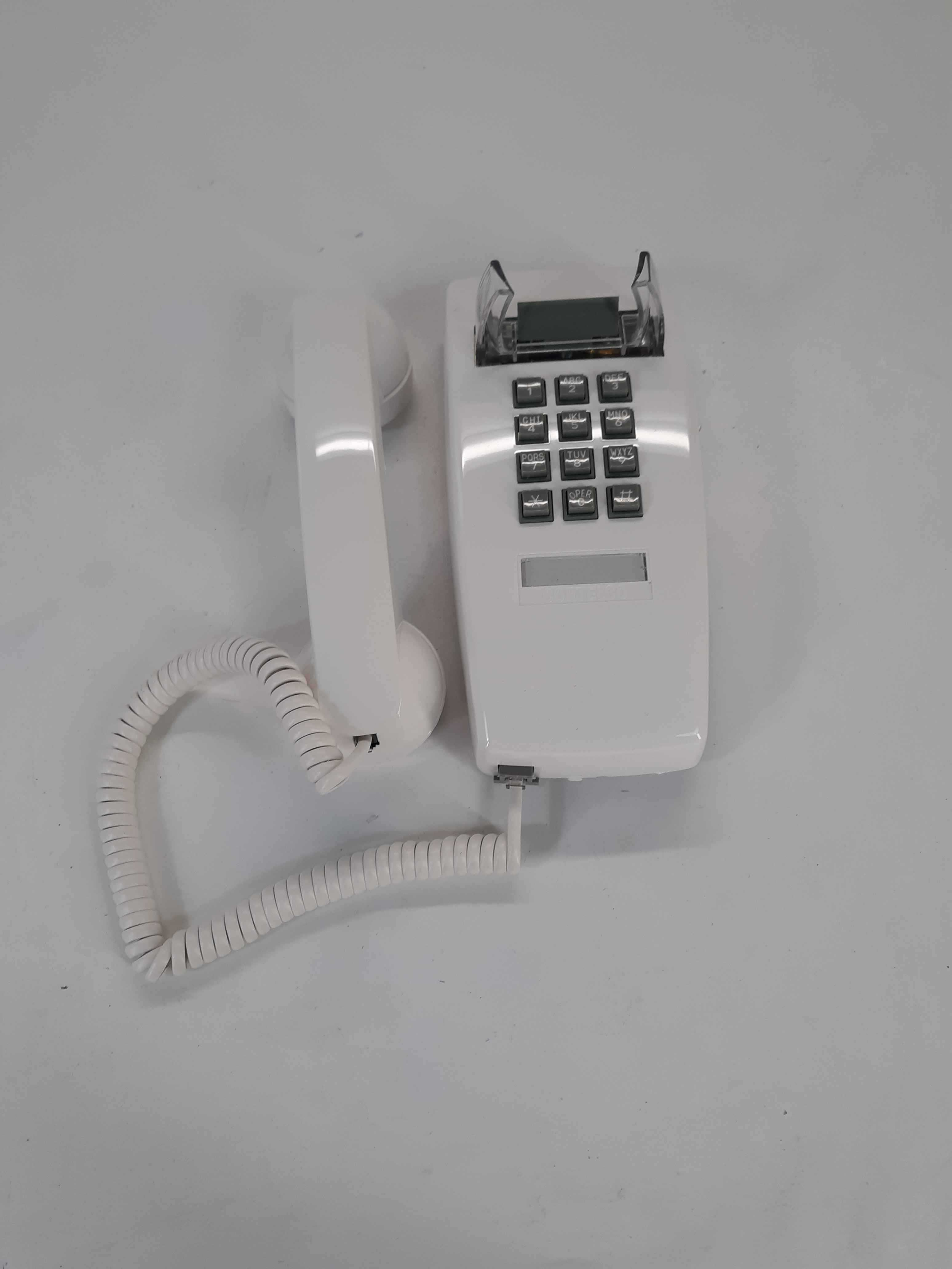 Cortelco Single Line Wall Telephone 255415-VBA-20M White Color