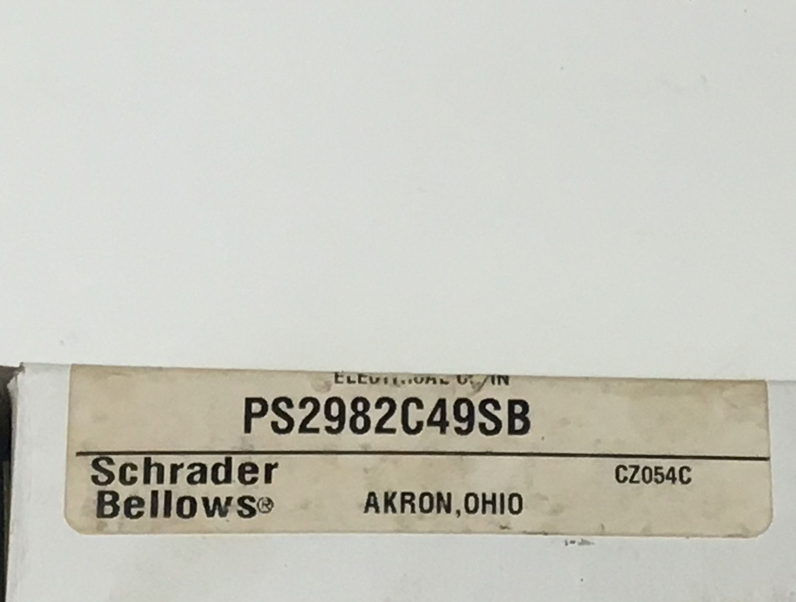 Schrader Bellows PS2982C49SB Solenoid Valve Repair Service Kit 24vdc 1.2w