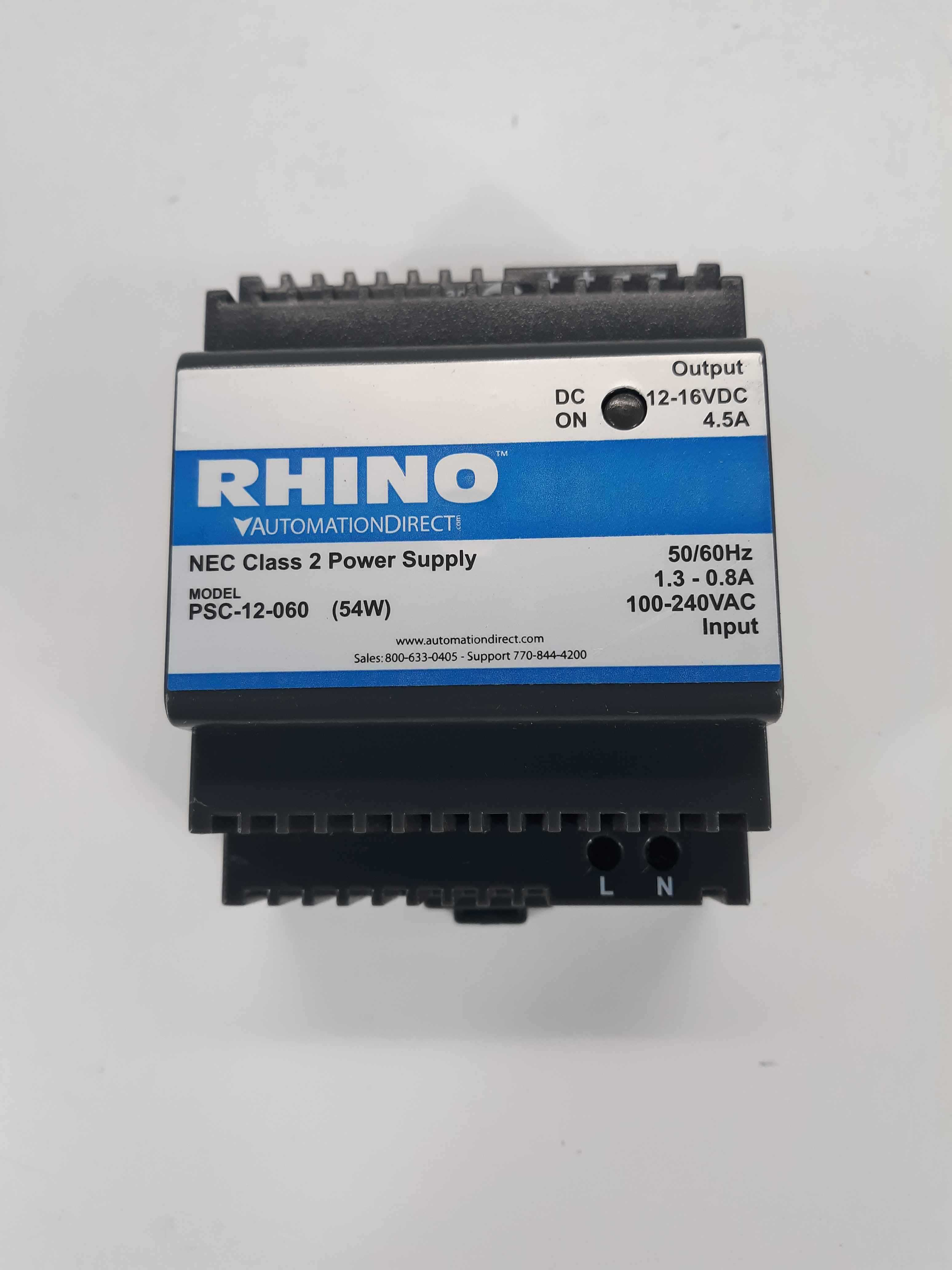 RHINO AUTOMATIONDIRECT PSC-12-060 NEC CLASS 2 POWER SUPPLY PSC12060