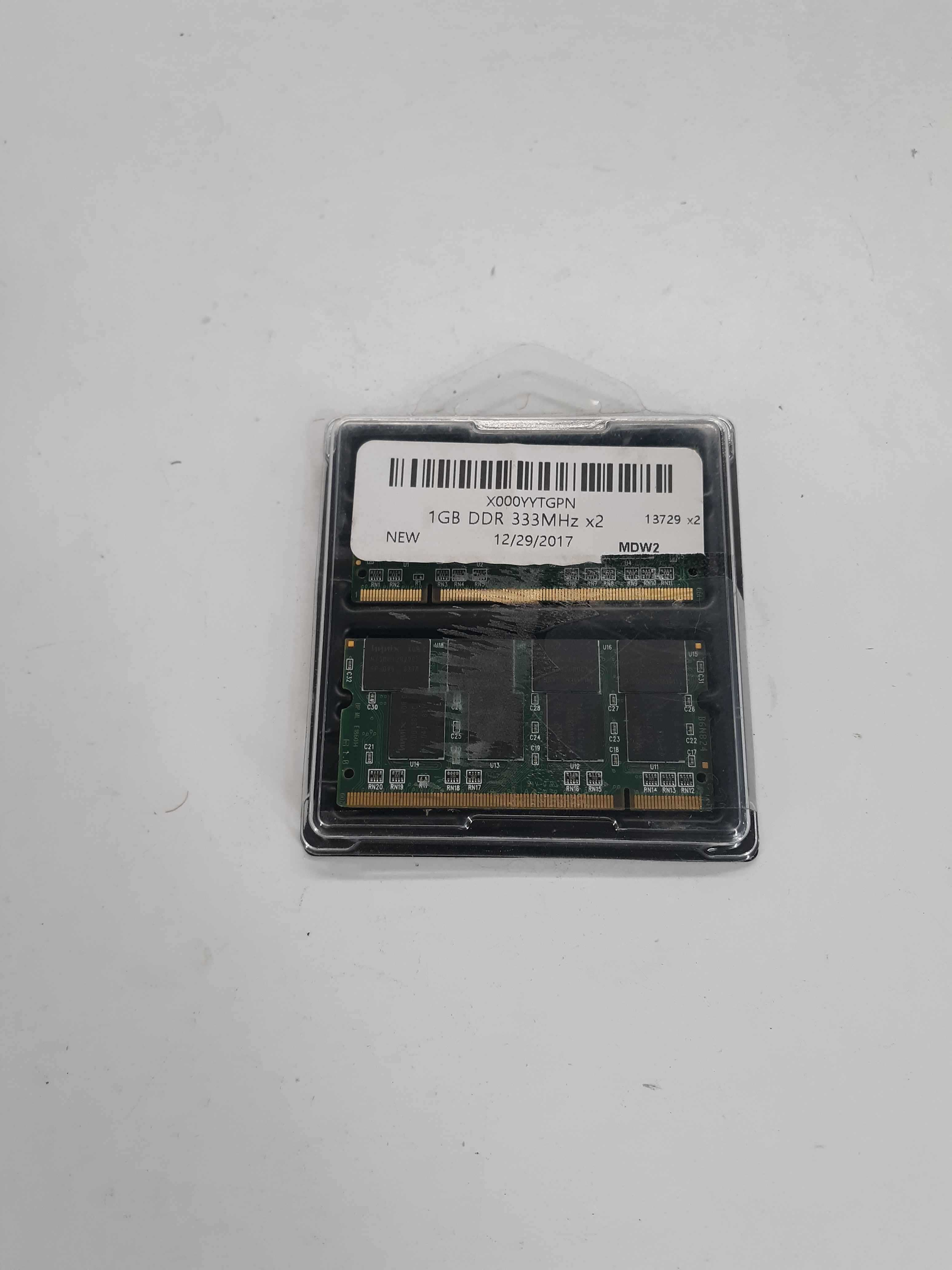 1GB DDR DIMM 333 MHz PC 2700 / 1GB DDR 333MHz x2 Laptop Notebook Memory