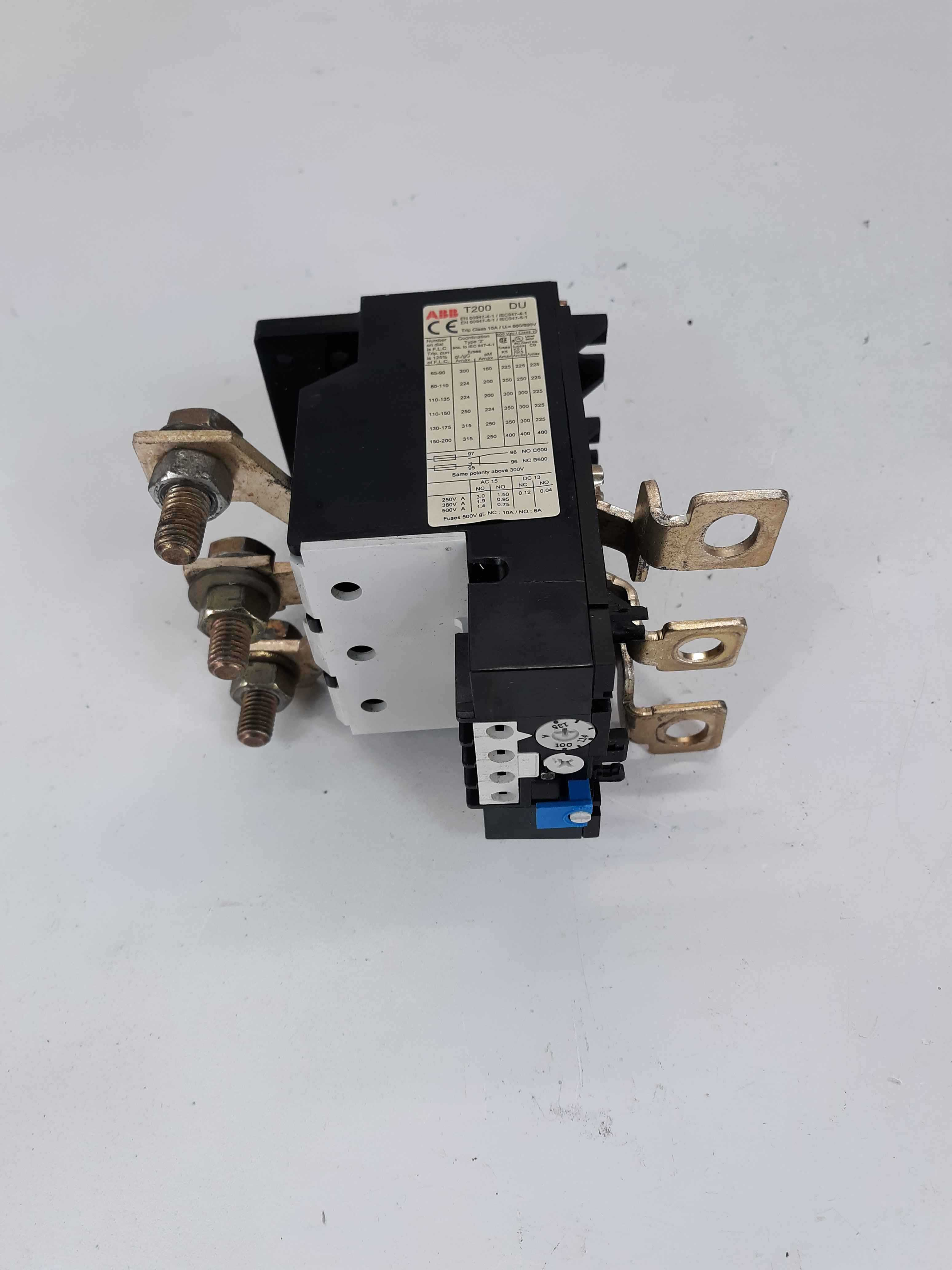 ABB T200DU Overload Relay, 100-135A, 3 Pole