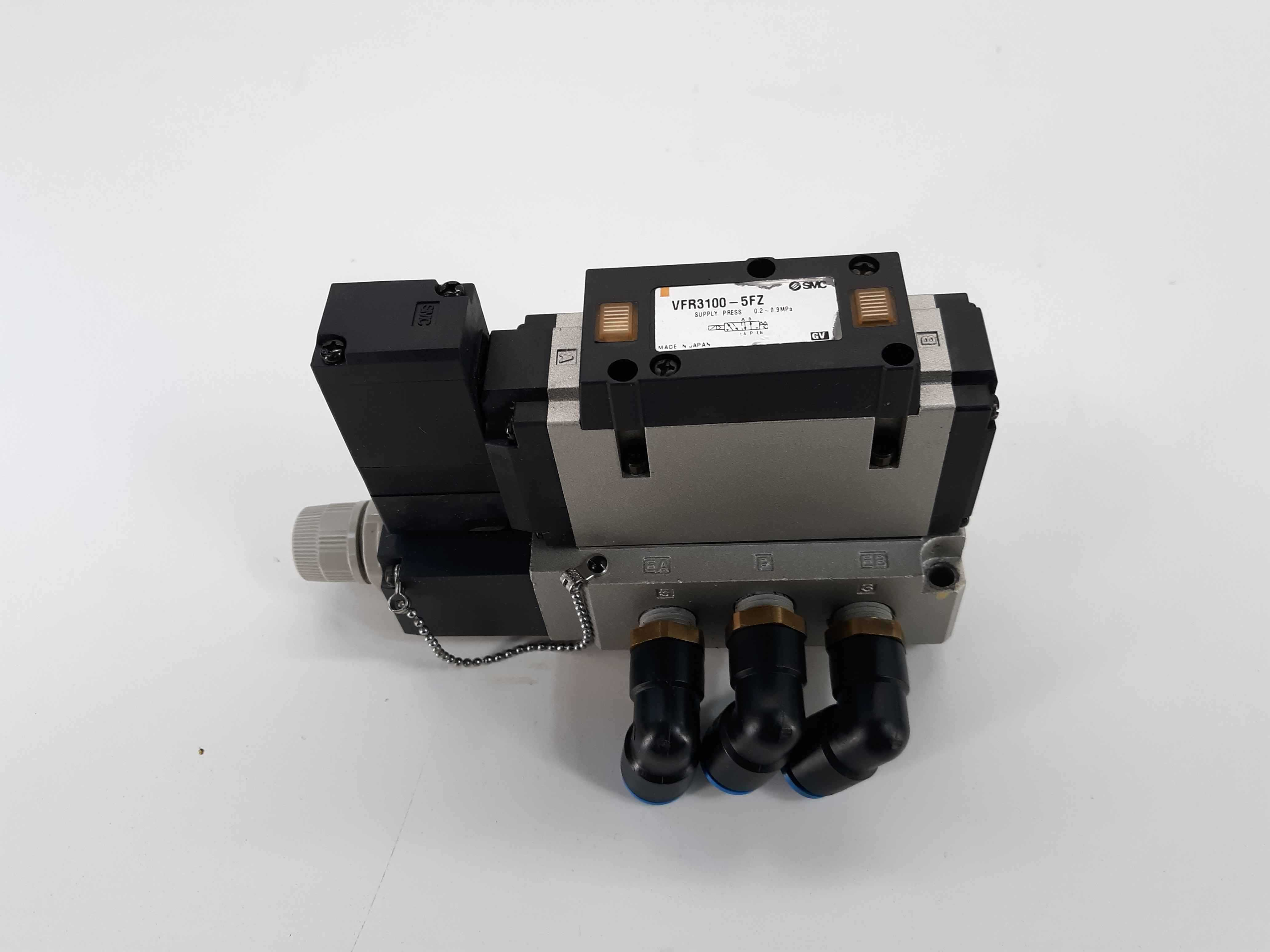 SMC VFR3100-5FZ 2-Position Solenoid Air Control Valve 24VDC 5-Way