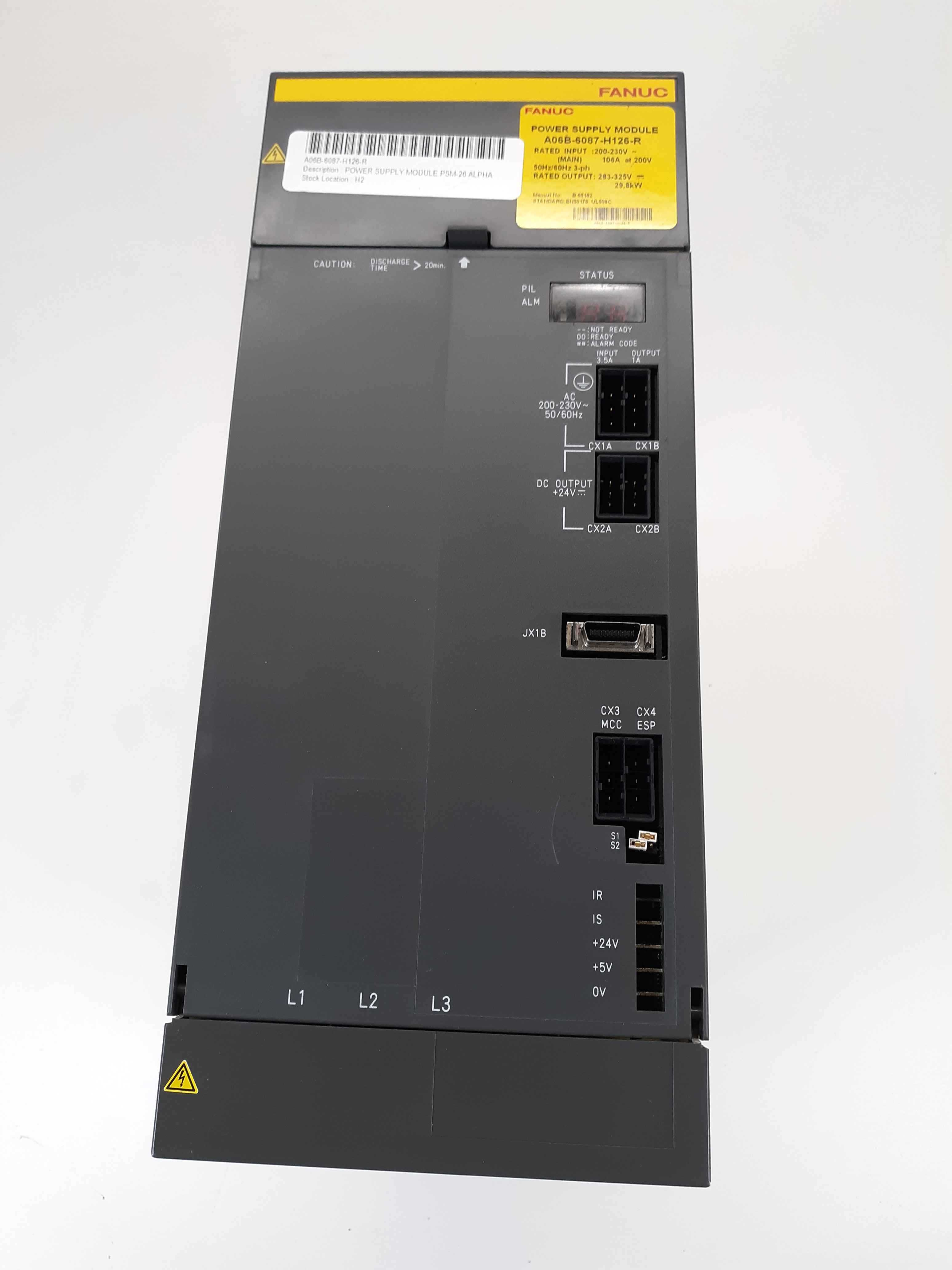 Fanuc A06B-6087-H126 R Power Supply Module