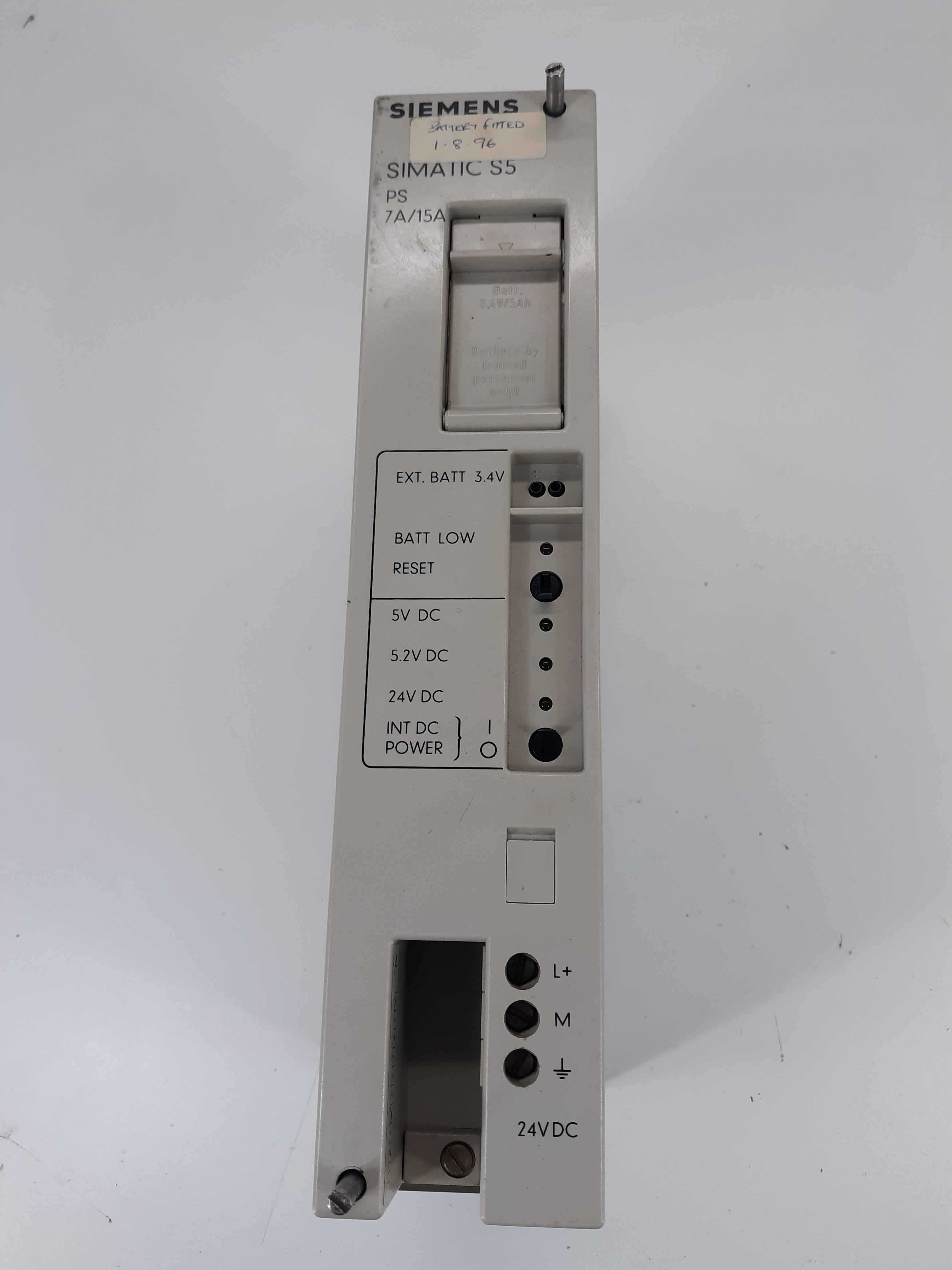 Siemens E24G5/15WRGD Simatics S5 PS 7A/15A Power Supply