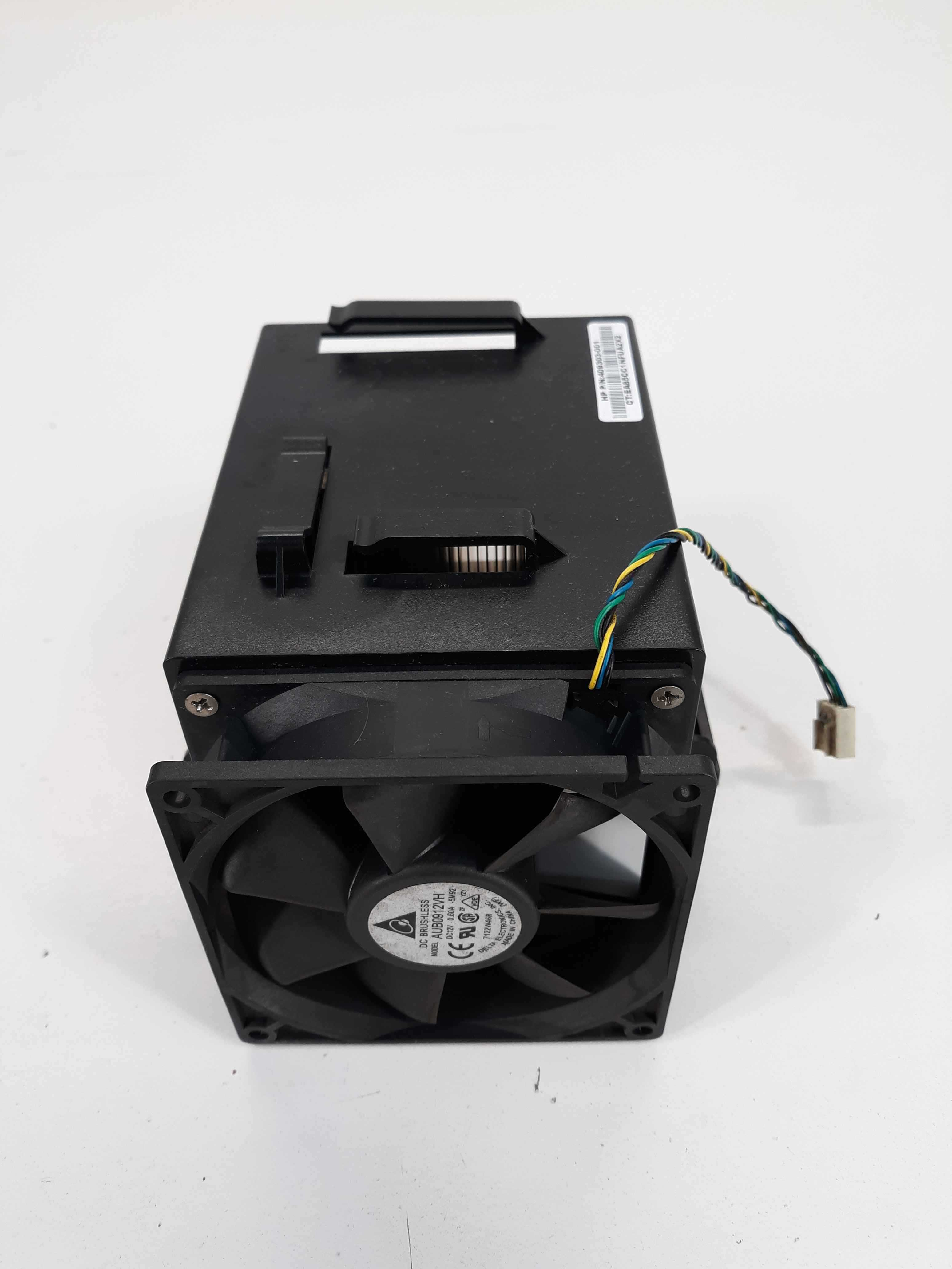 HP 409303-001 heatsink and fan Delta AUB0912VH