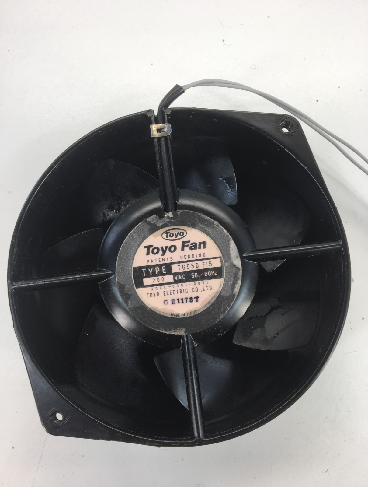 Toyo Fan type T655D F15 200VAC