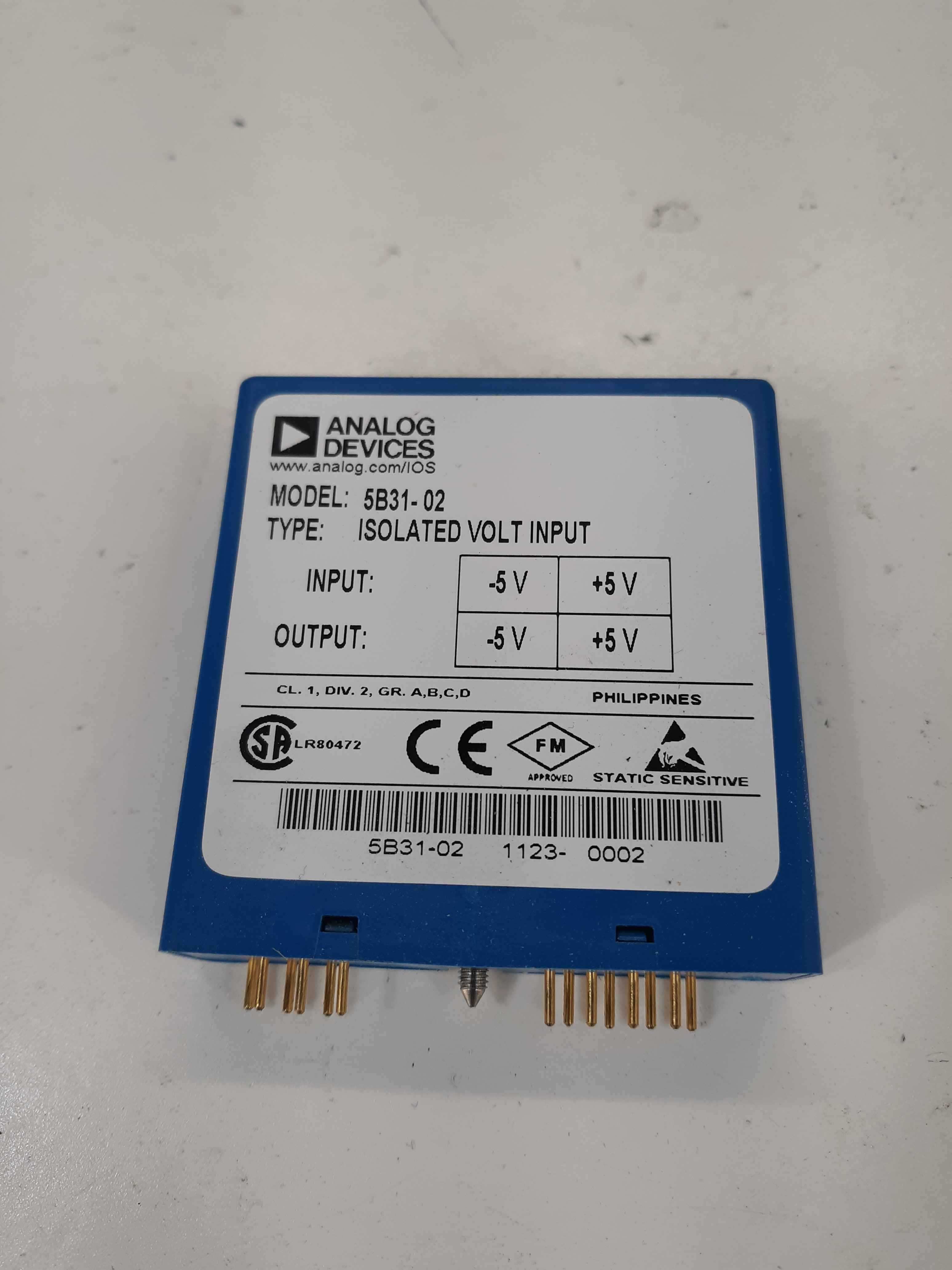 Analog Devices 5B31-02 Isolated Volt Input Module