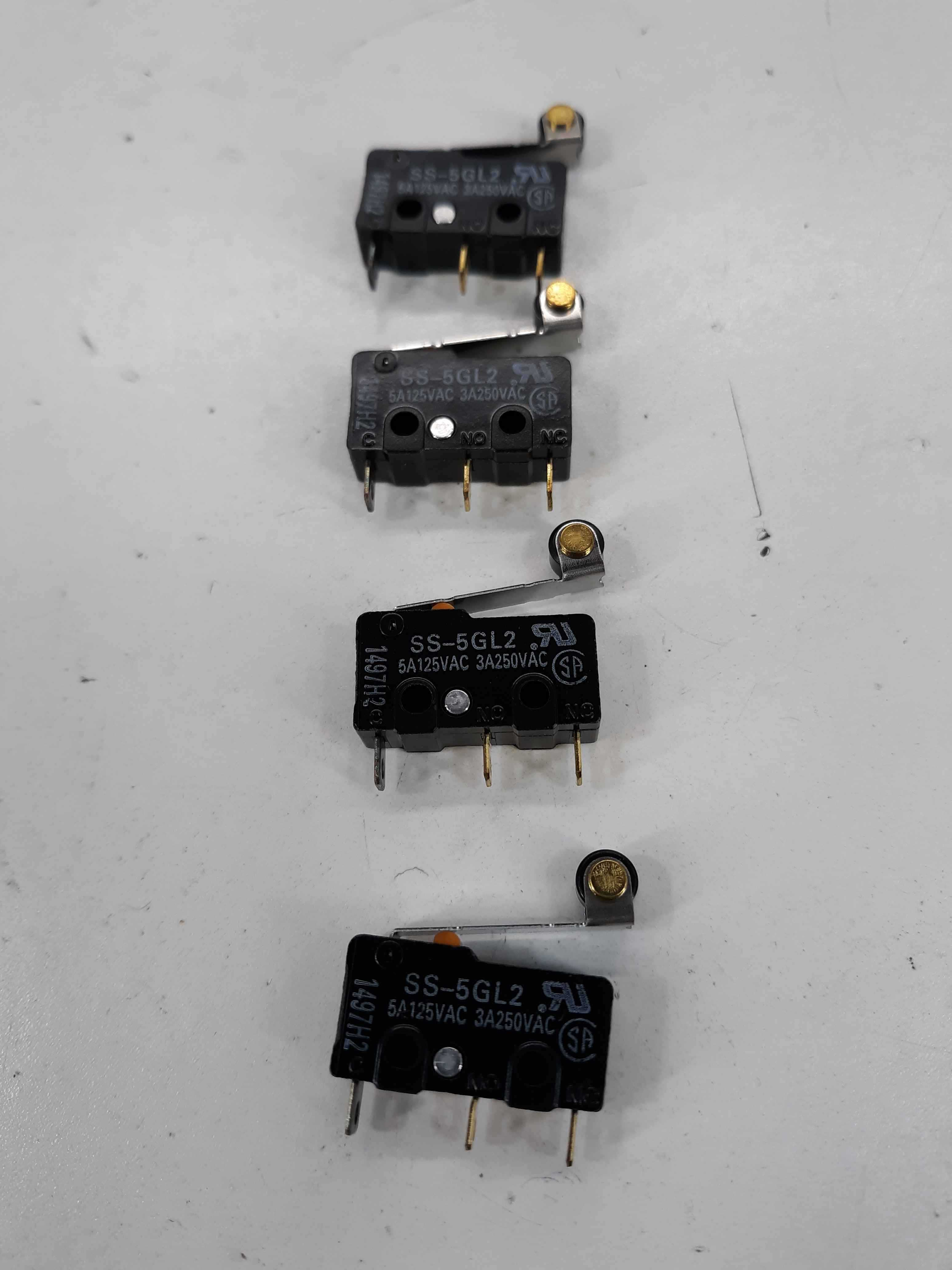 Omron S-5GL2 5A Microswitch 125VAC lot of 4