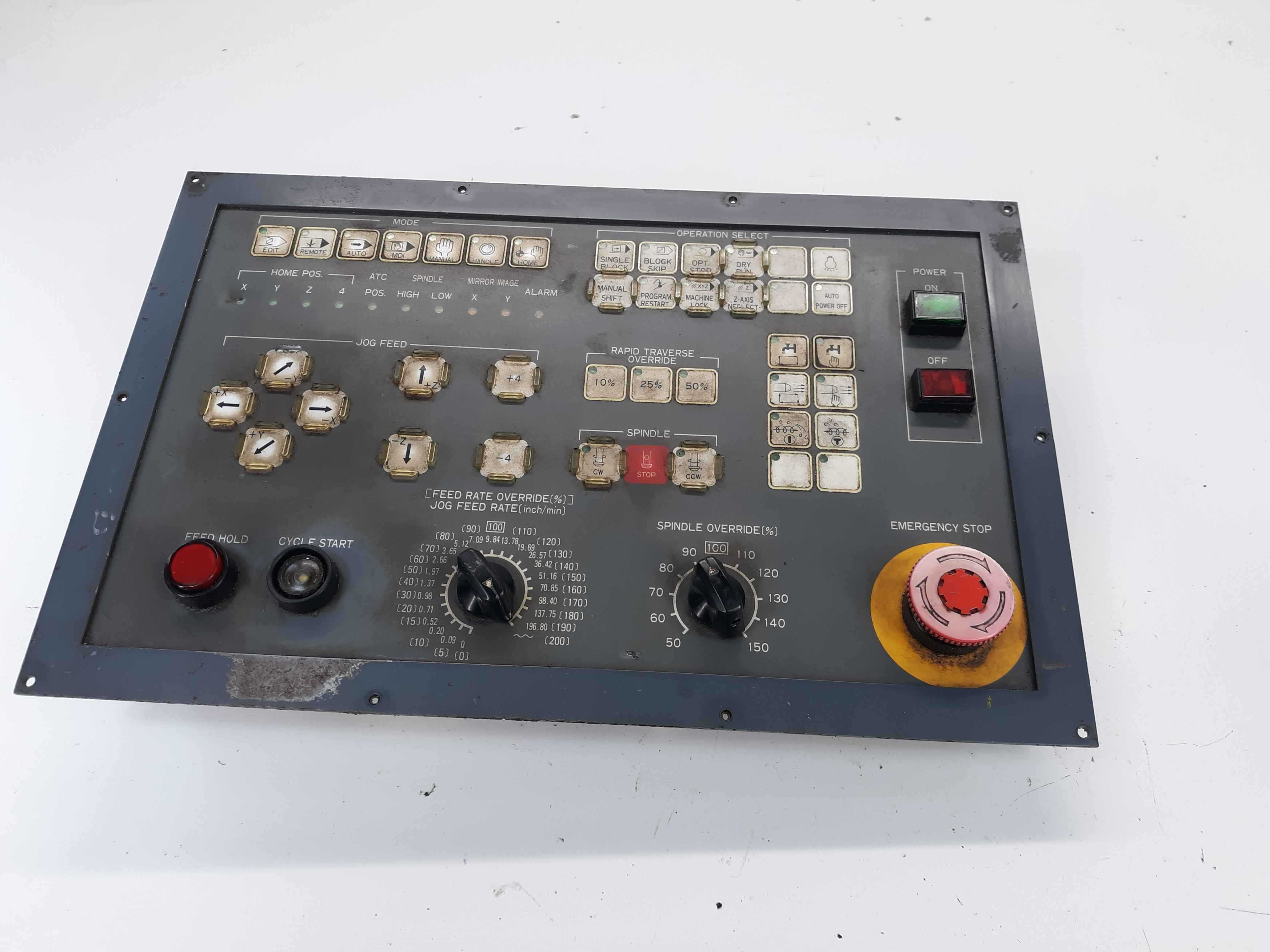 CNC Control Panel Spindle Rate/ Jog & Feed , Handle Rapid